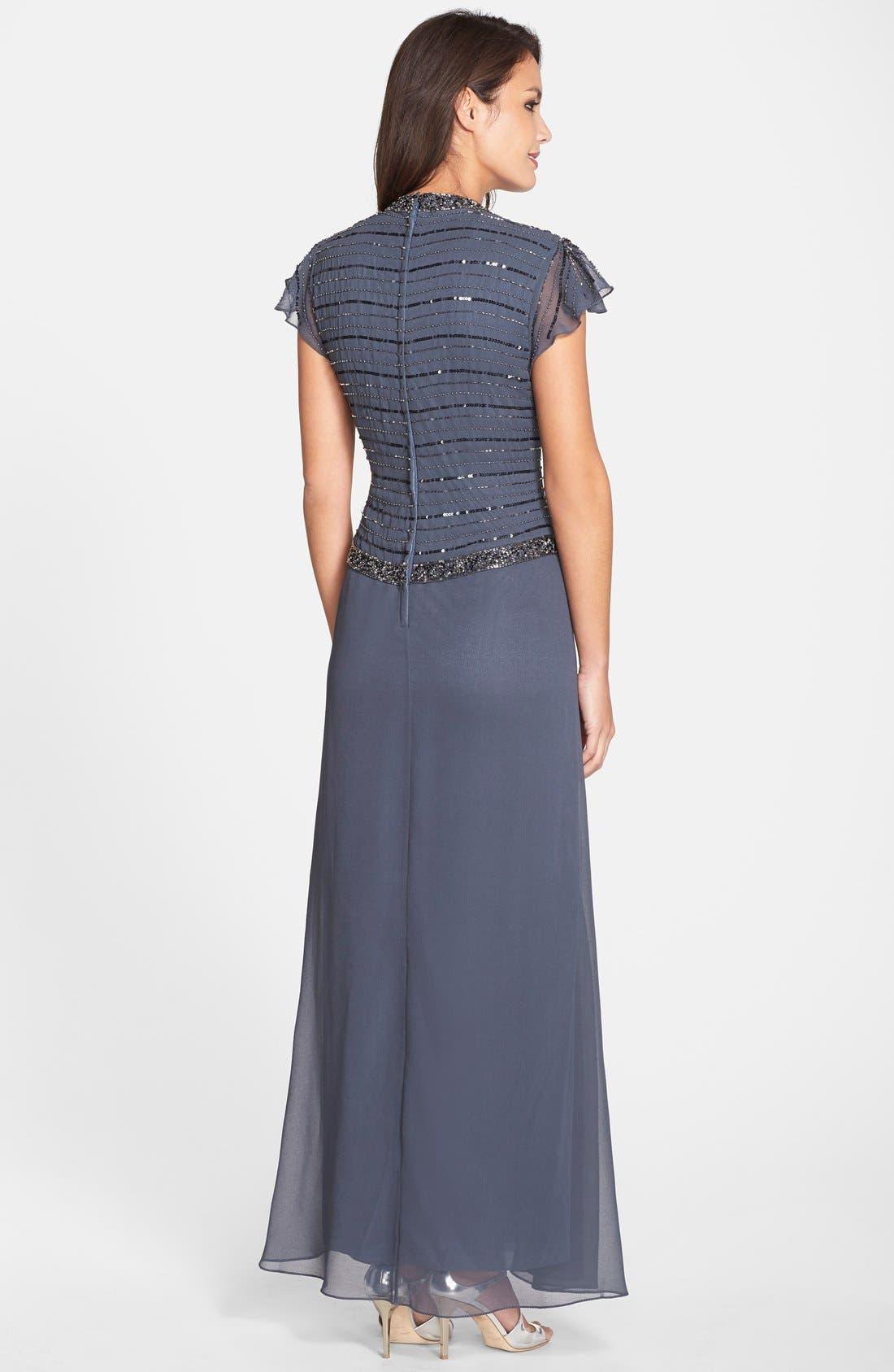 Alternate Image 2  - J Kara Embellished Mock Two-Piece Gown