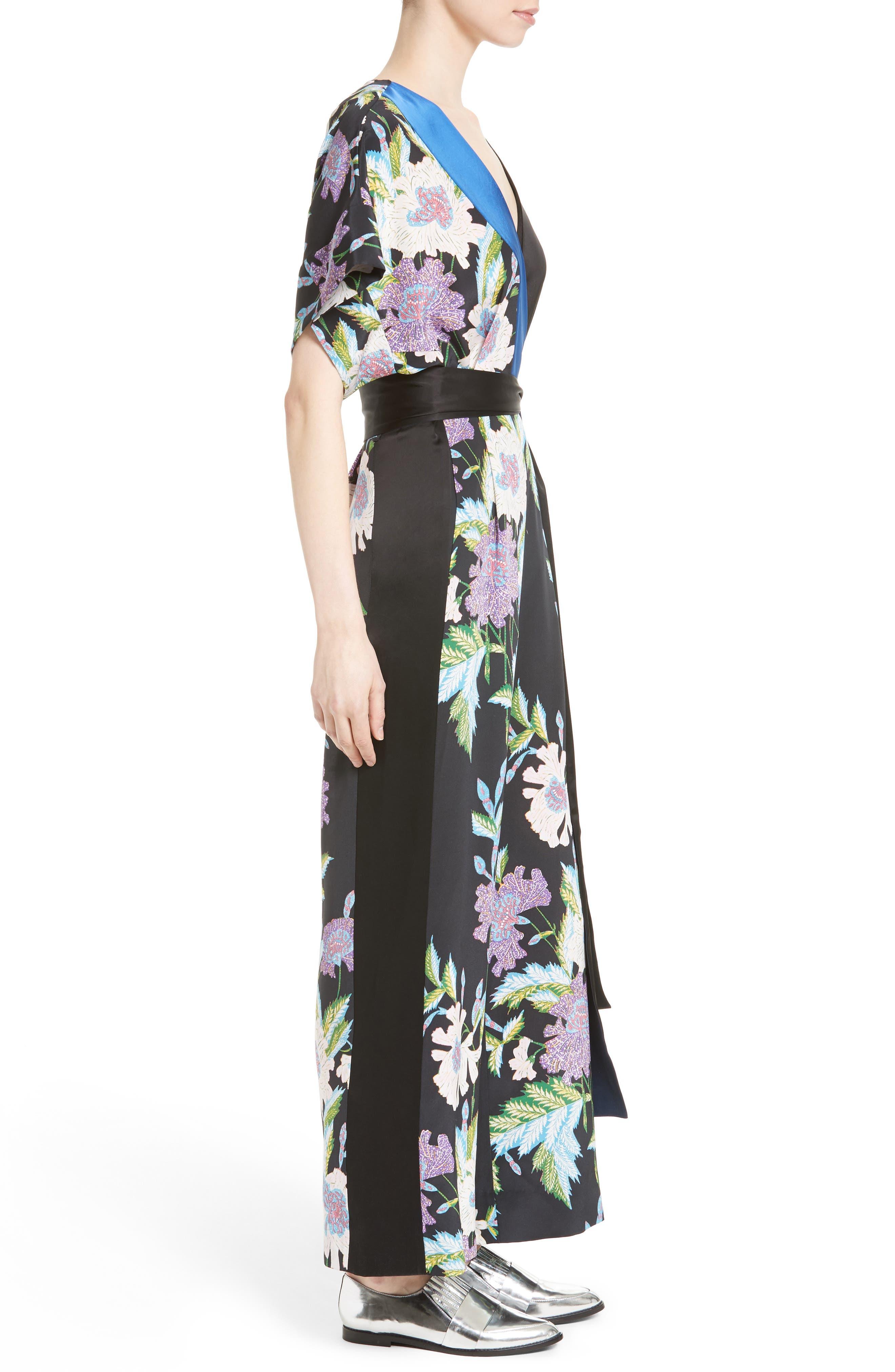 Alternate Image 3  - Diane von Furstenberg Faux Wrap Silk Jumpsuit