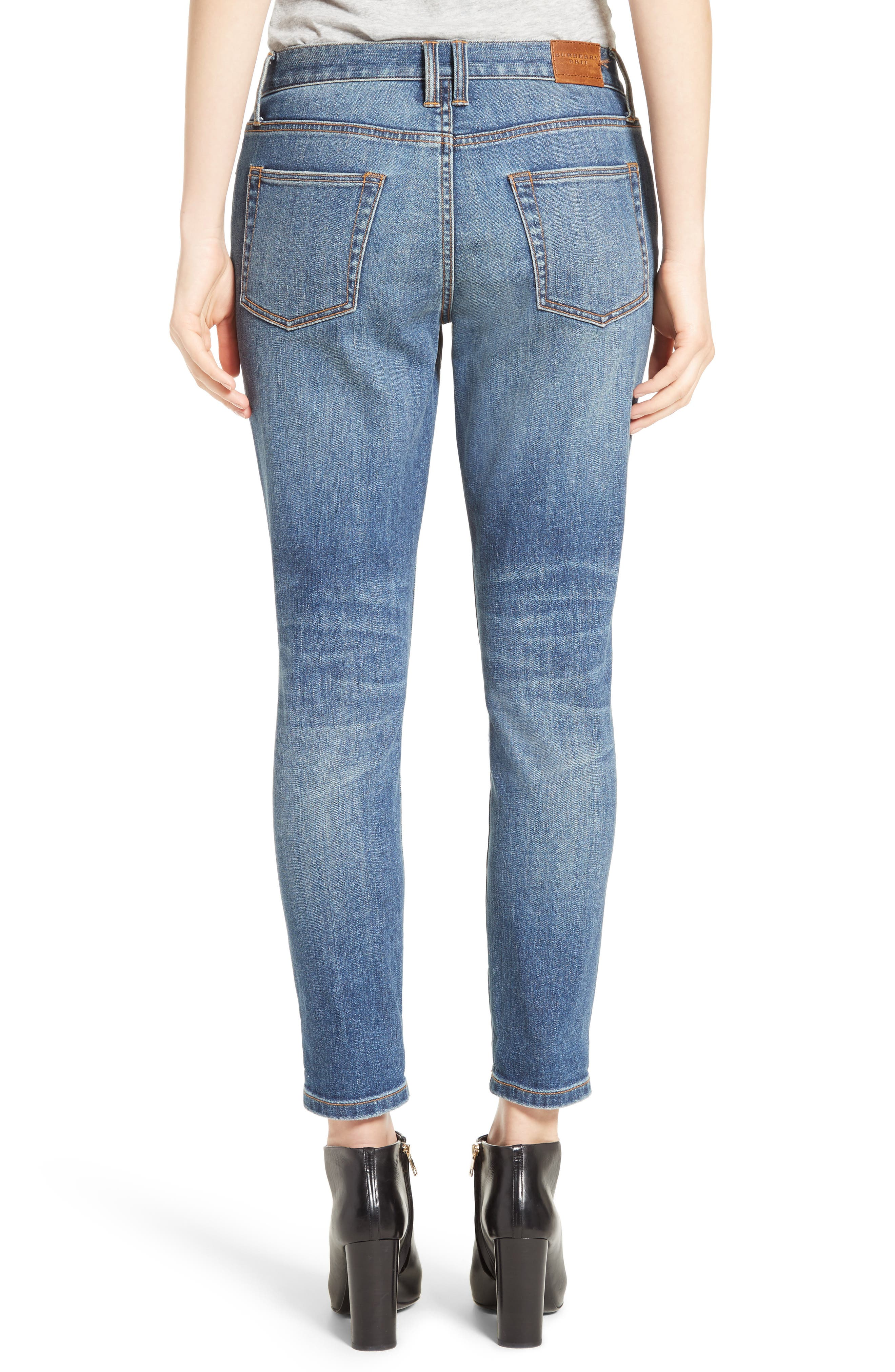 Alternate Image 2  - Burberry Relaxed Skinny Jeans