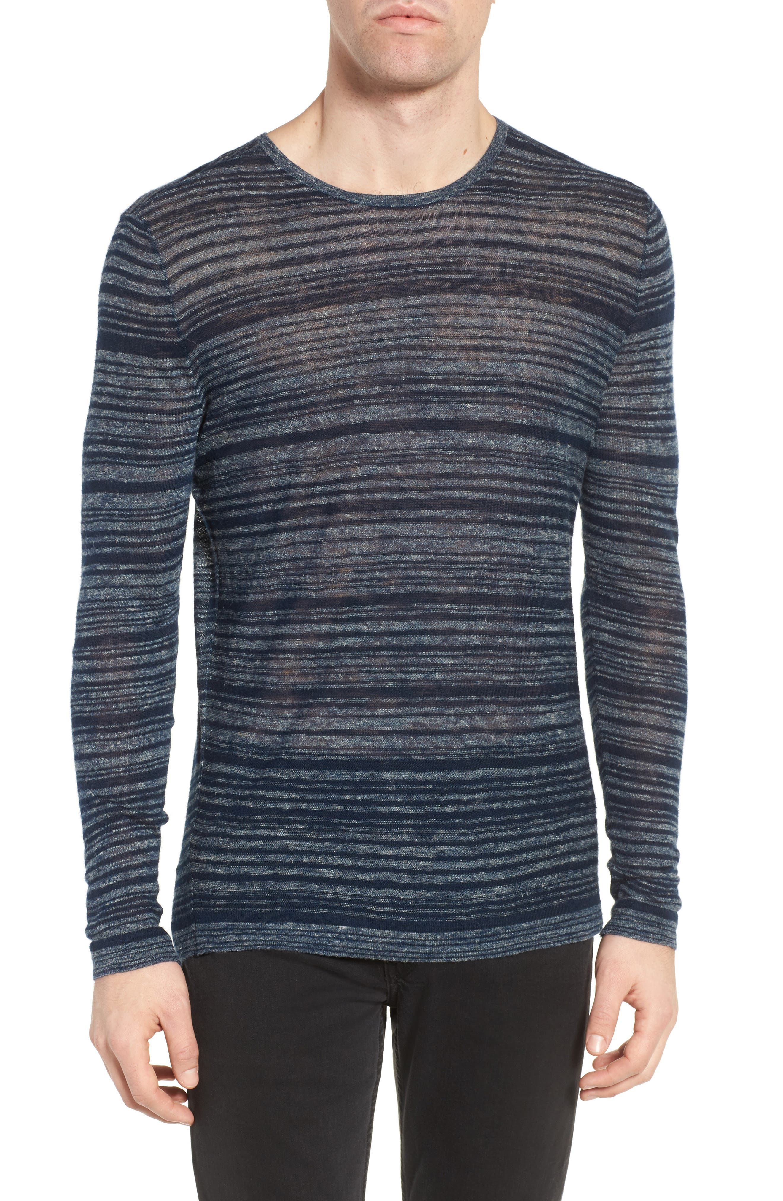 JOHN VARVATOS STAR USA Two-Tone Stripe Sweater