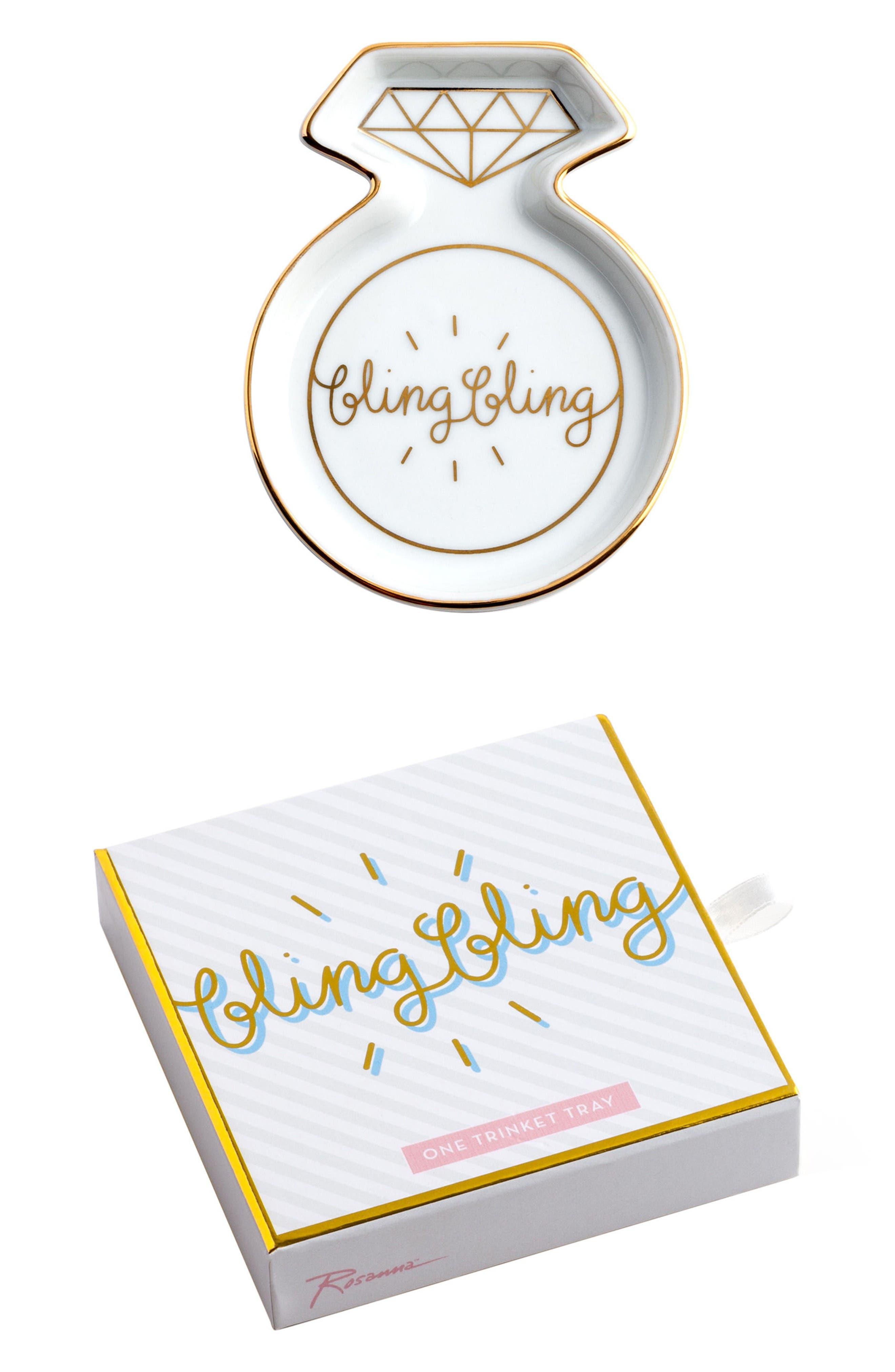 Rosanna Bling Bling Porcelain Trinket Tray