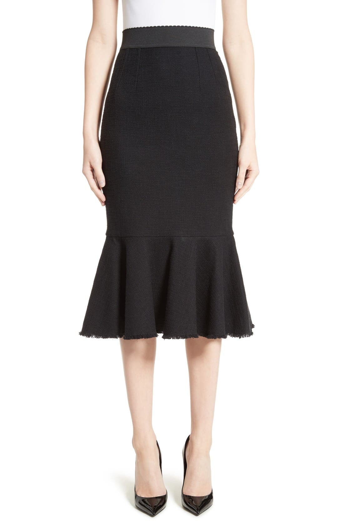 Alternate Image 1 Selected - Dolce&Gabbana Flare Hem Skirt