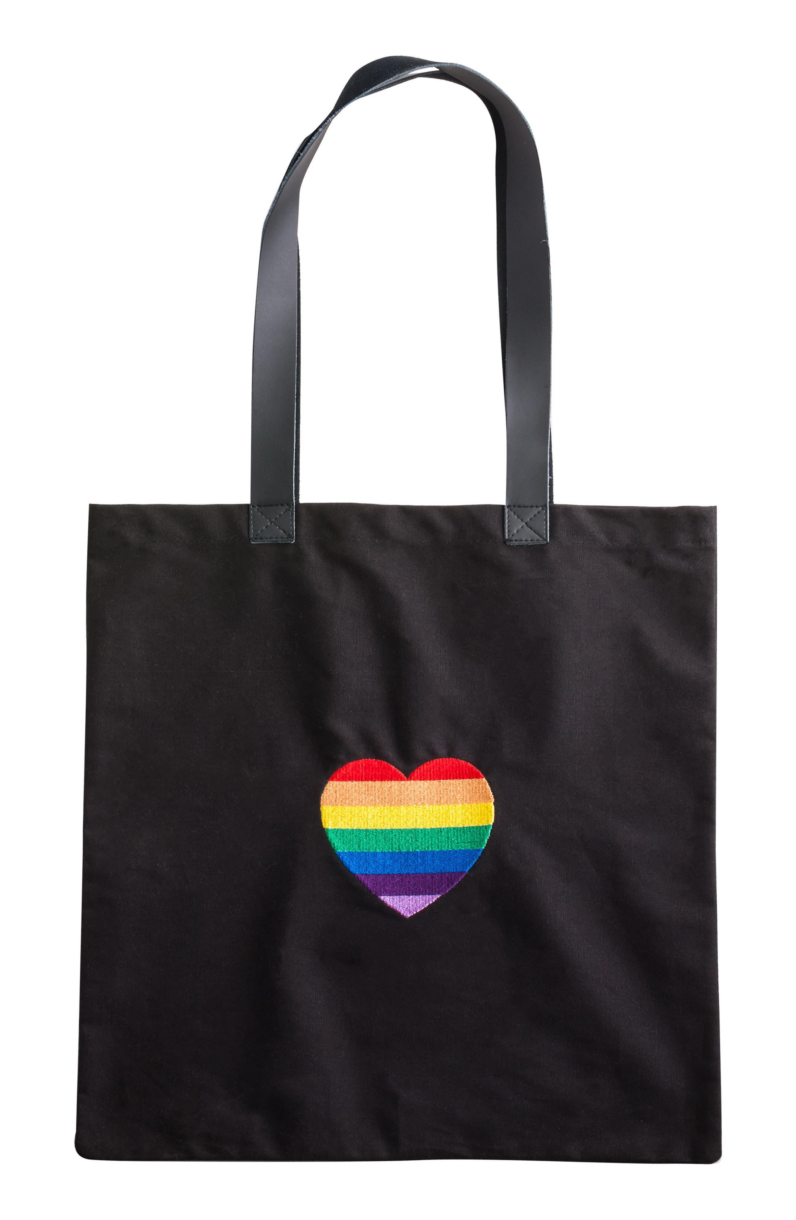 Rosanna Rainbow Heart Tote