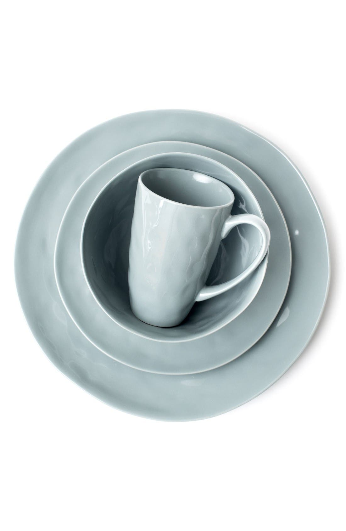Zestt Sculptured Porcelain Dishware (Set of 16)