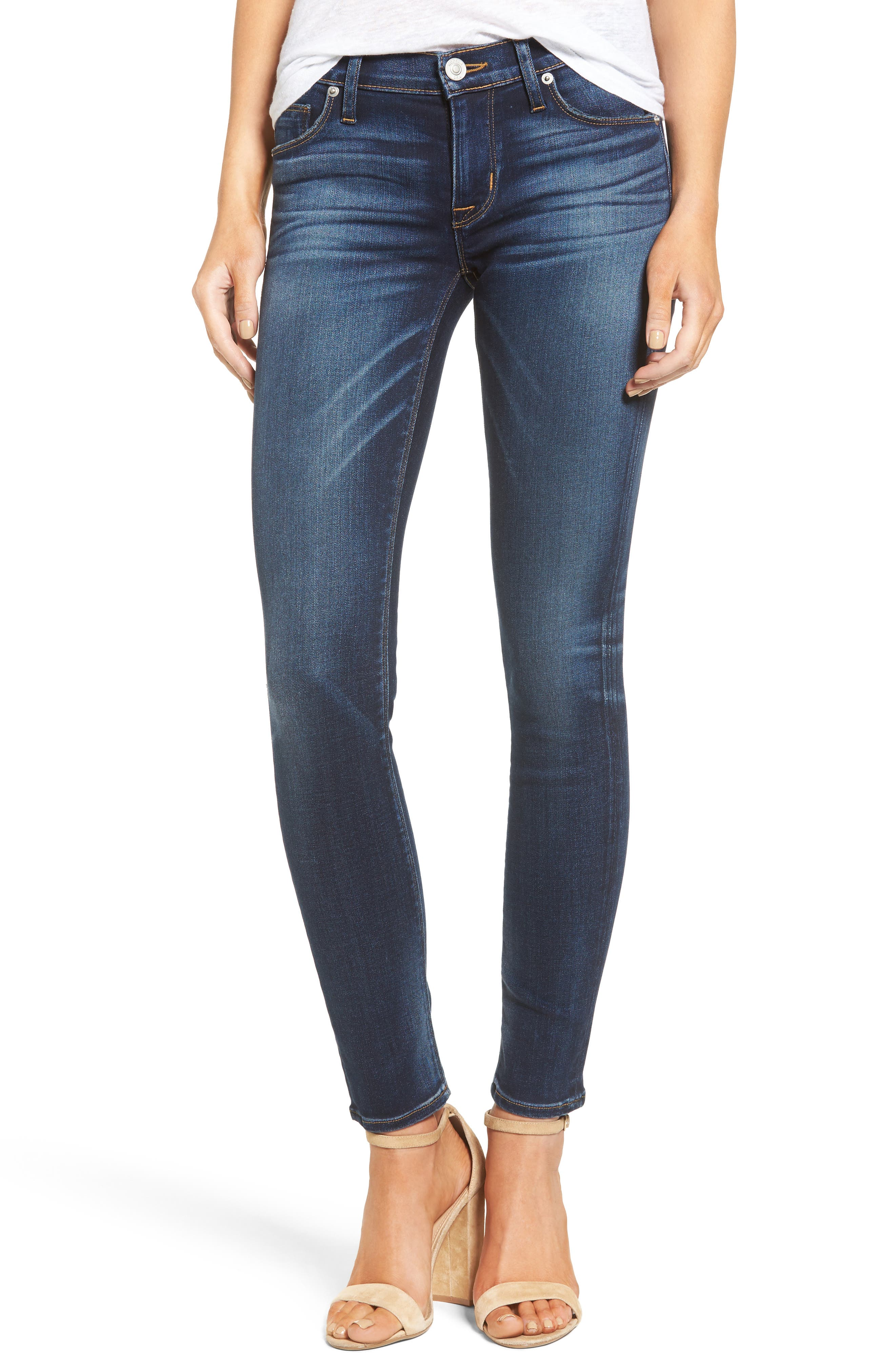 Hudson Jeans Nico Skinny Jeans (Blue Gold)