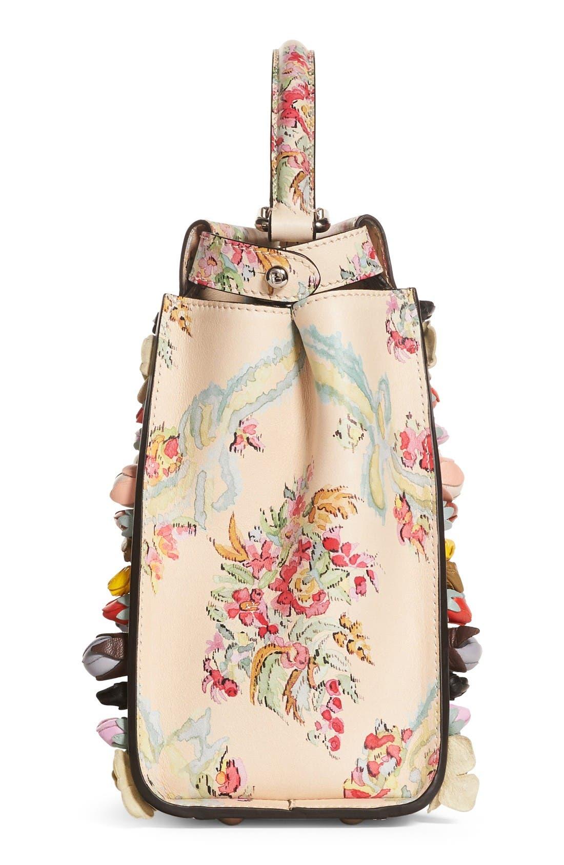Alternate Image 4  - Fendi Medium Peekaboo Floral Appliqué Leather Satchel