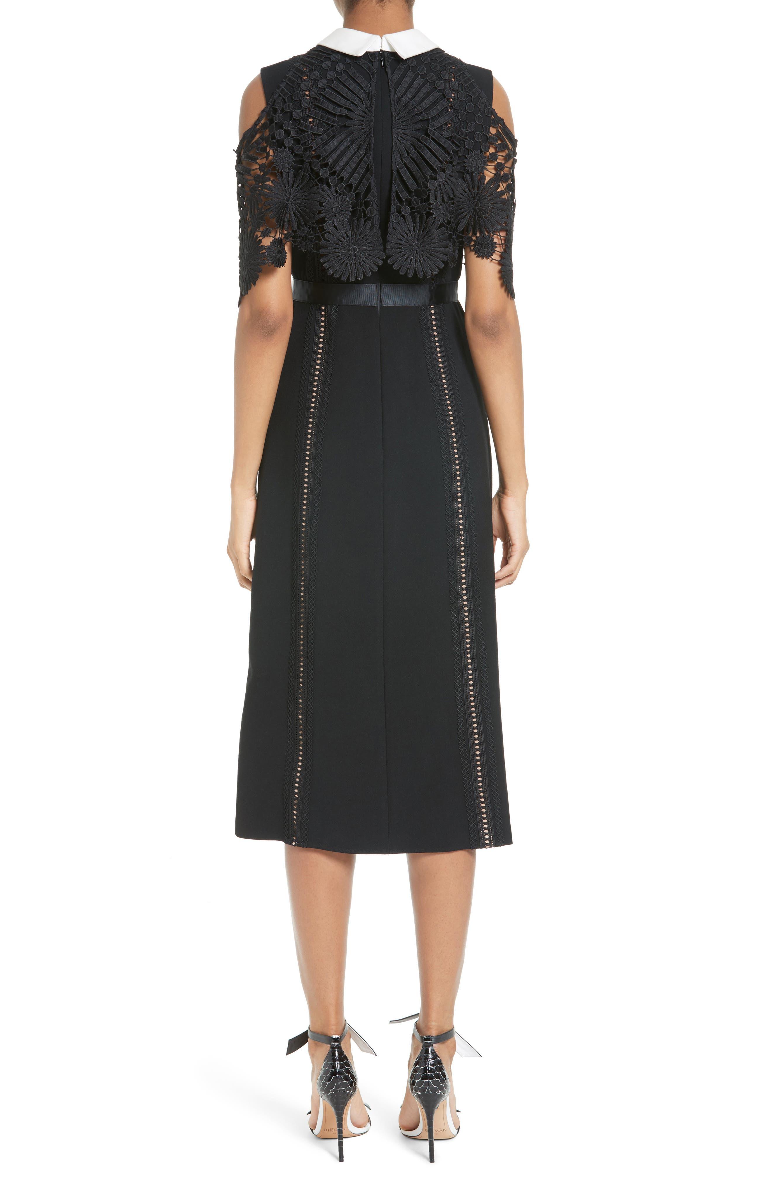 Alternate Image 2  - Self-Portrait Hinkley Cold Shoulder Midi Dress