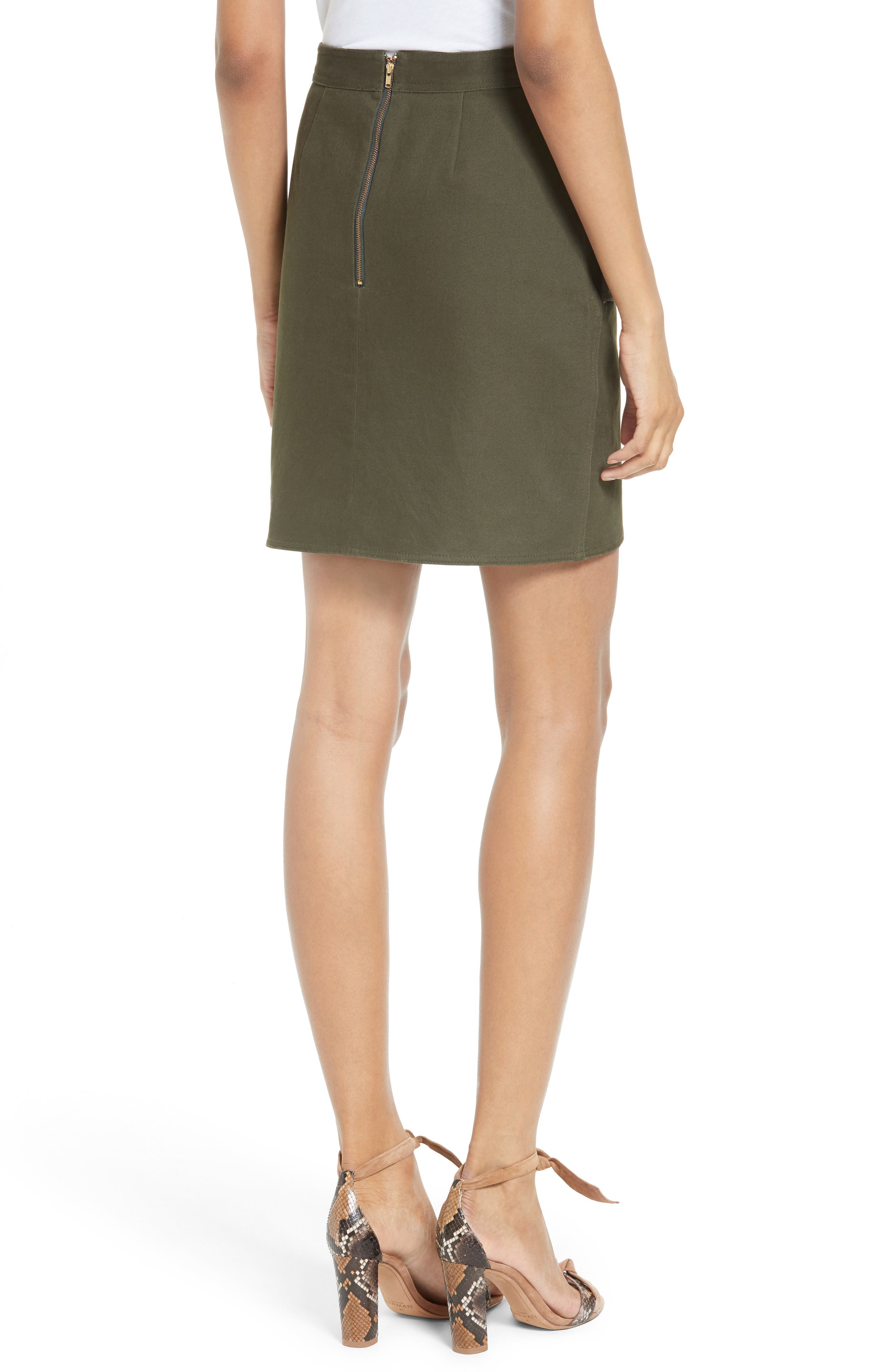 Alternate Image 2  - Self-Portrait Utility Miniskirt