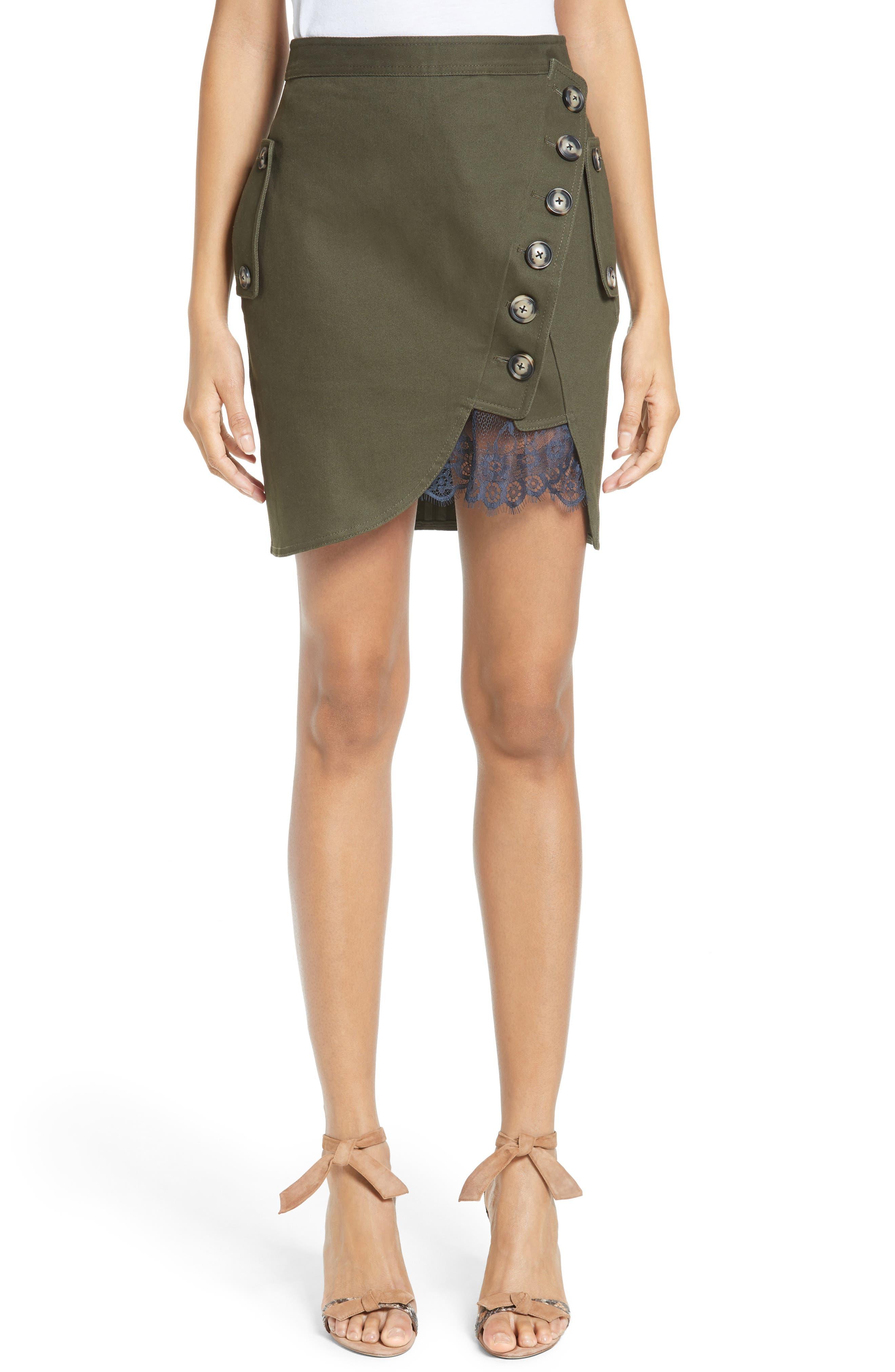Alternate Image 1 Selected - Self-Portrait Utility Miniskirt