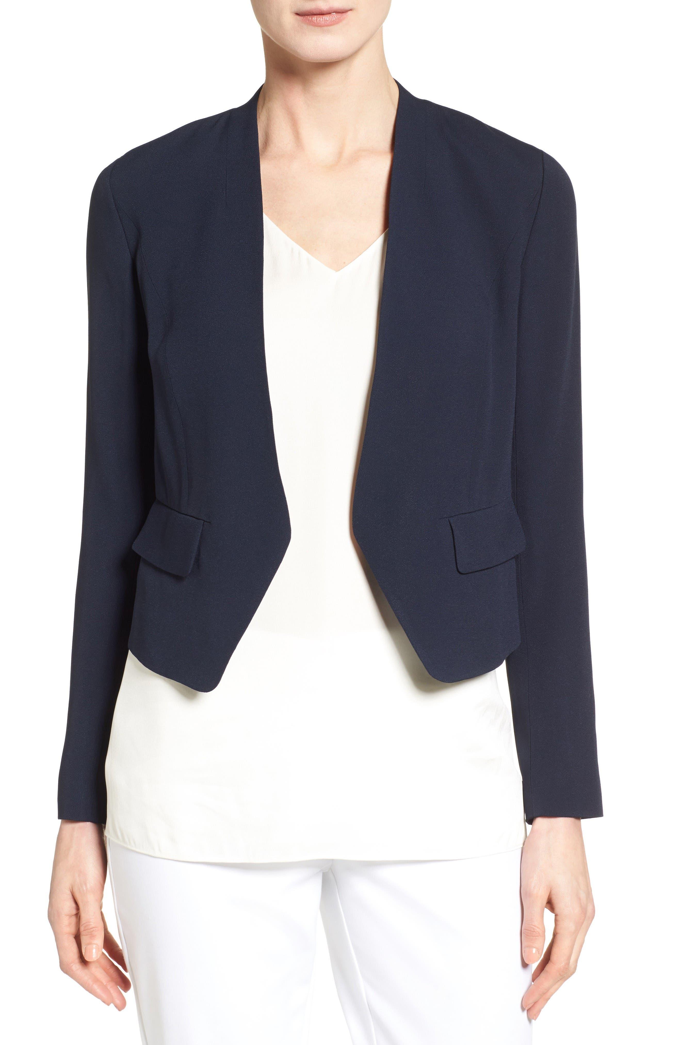 CLASSIQUES ENTIER® Open Front Crepe Jacket