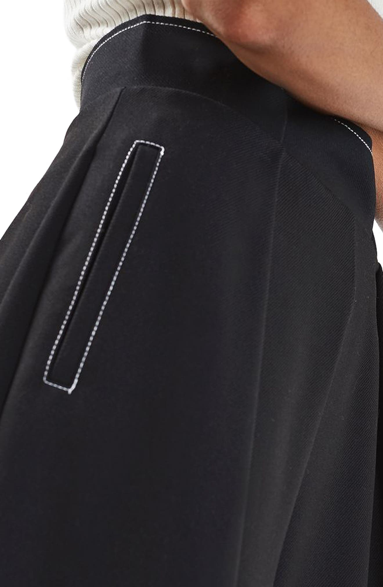 Alternate Image 5  - Topshop Stitched Wide Leg Trousers