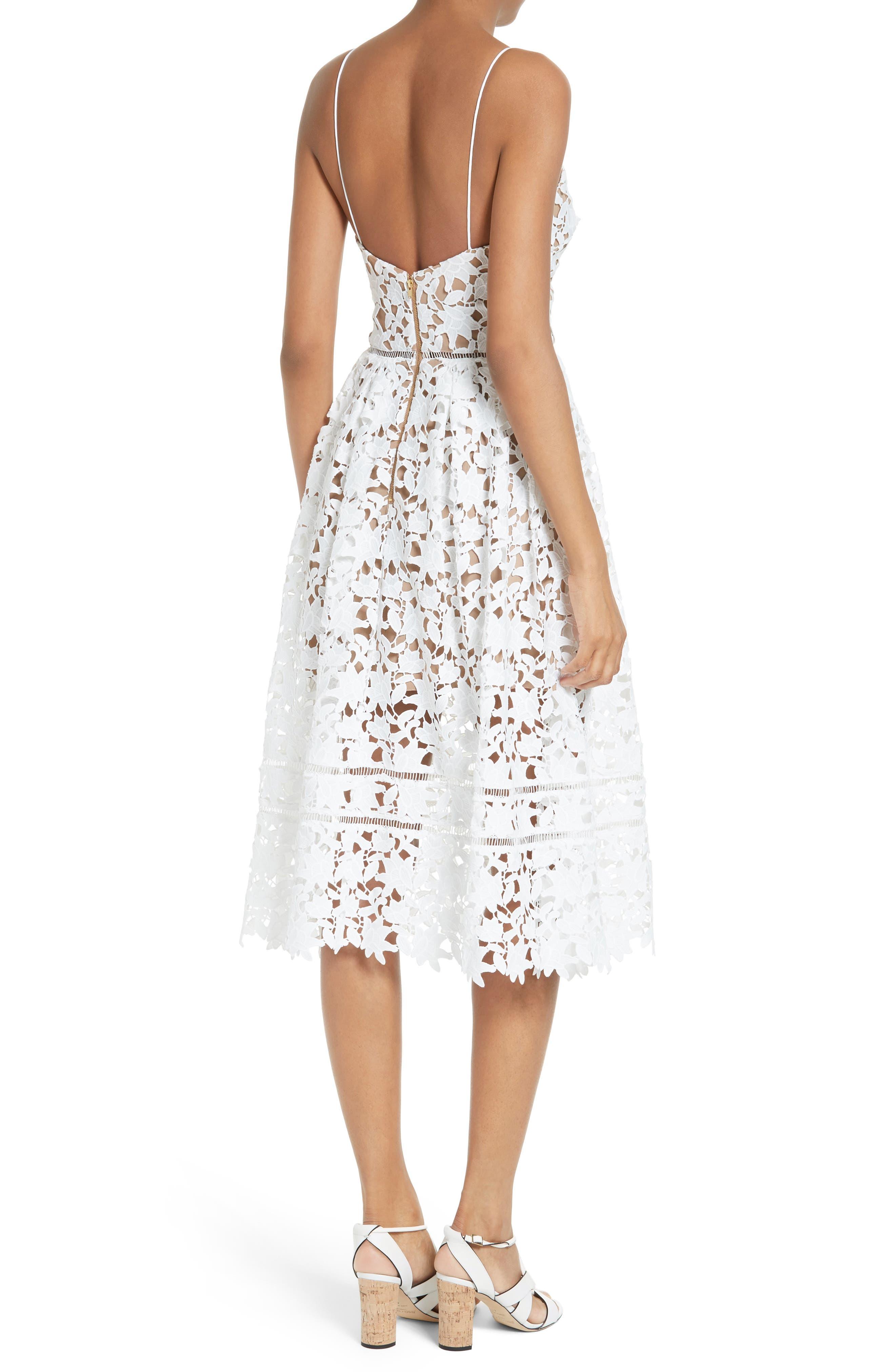 Alternate Image 2  - Self-Portrait 'Azaelea' Lace Fit & Flare Dress