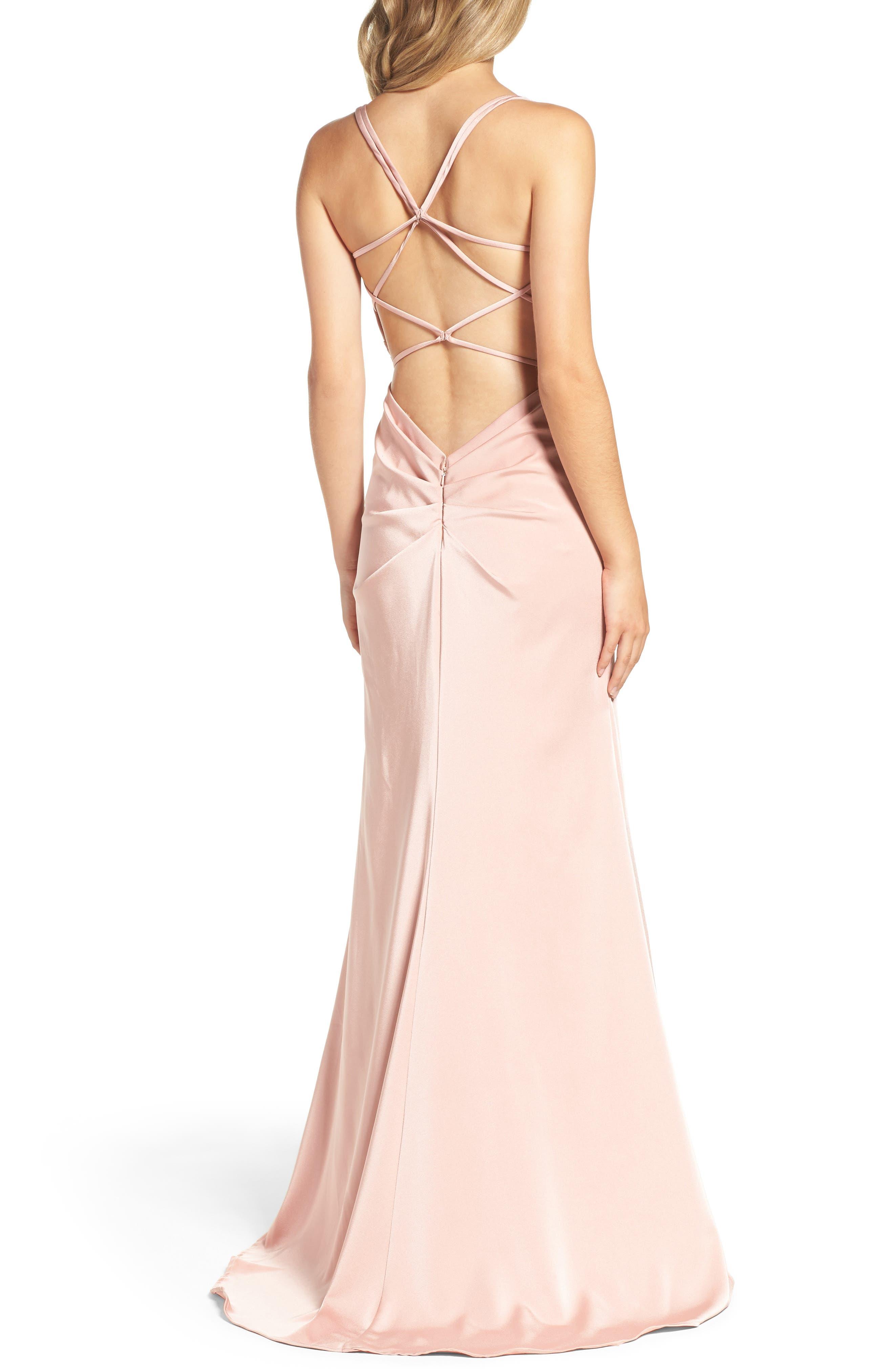 Alternate Image 2  - La Femme Sweetheart Gown