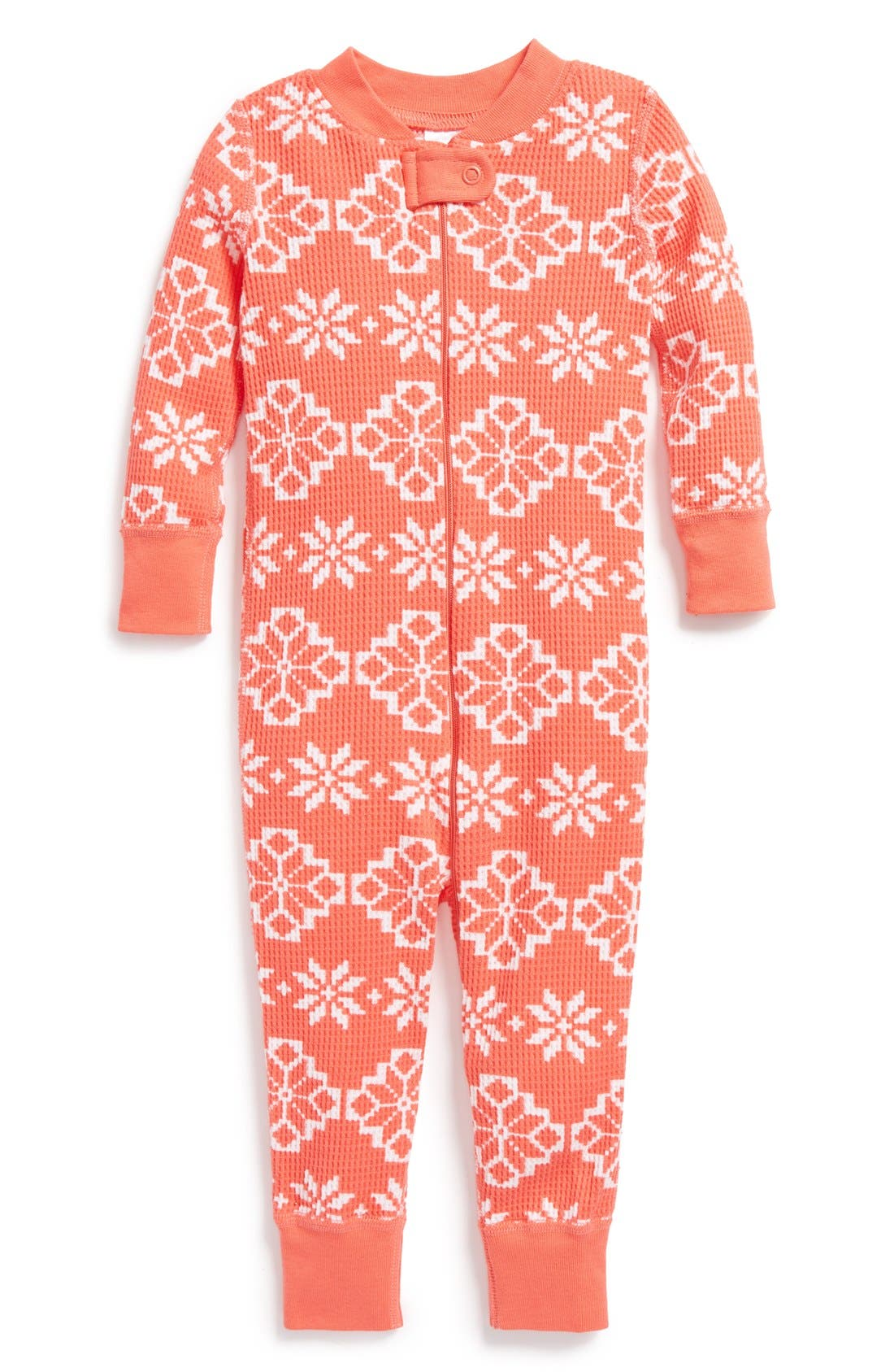Main Image - Hanna Andersson Organic Cotton Romper Pajamas (Baby Girls)
