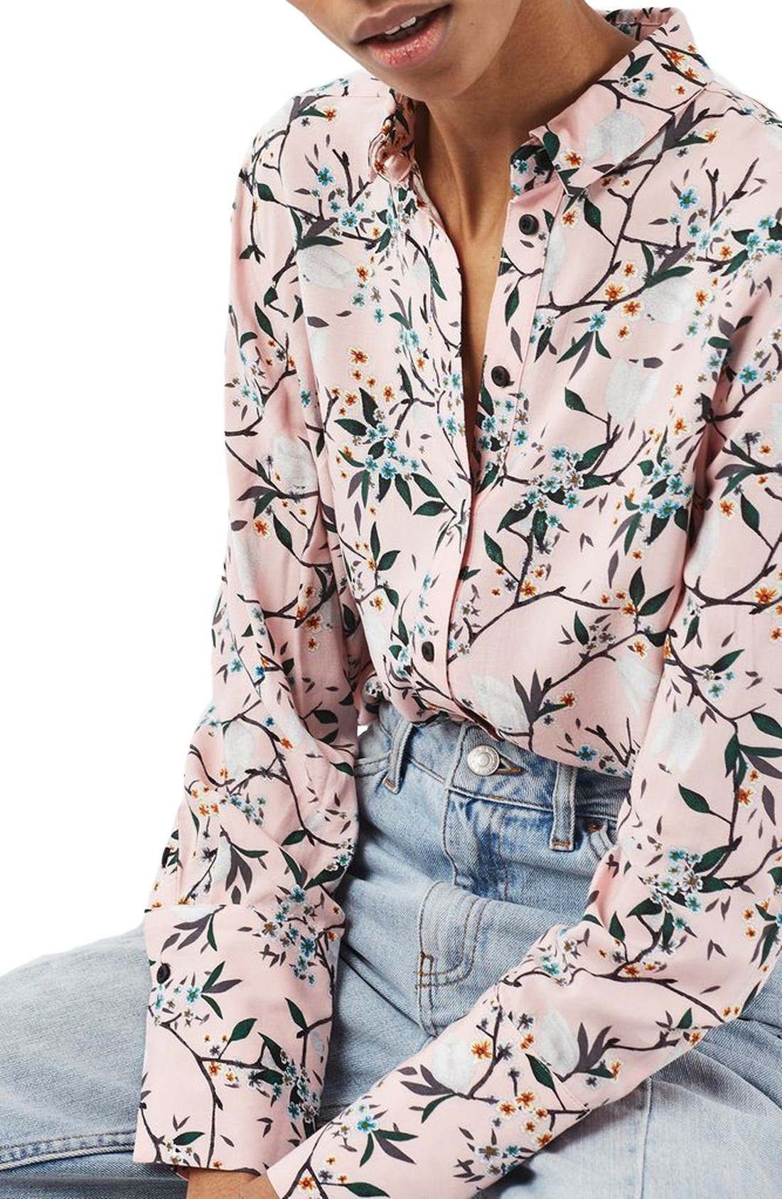TOPSHOP Cherry Blossom Shirt