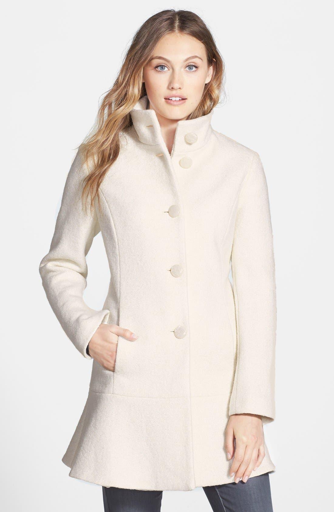 Alternate Image 1 Selected - kensie Fit & Flare Coat (Online Only)
