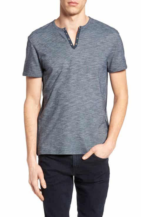 John Varvatos Star USA Notch Henley T-Shirt