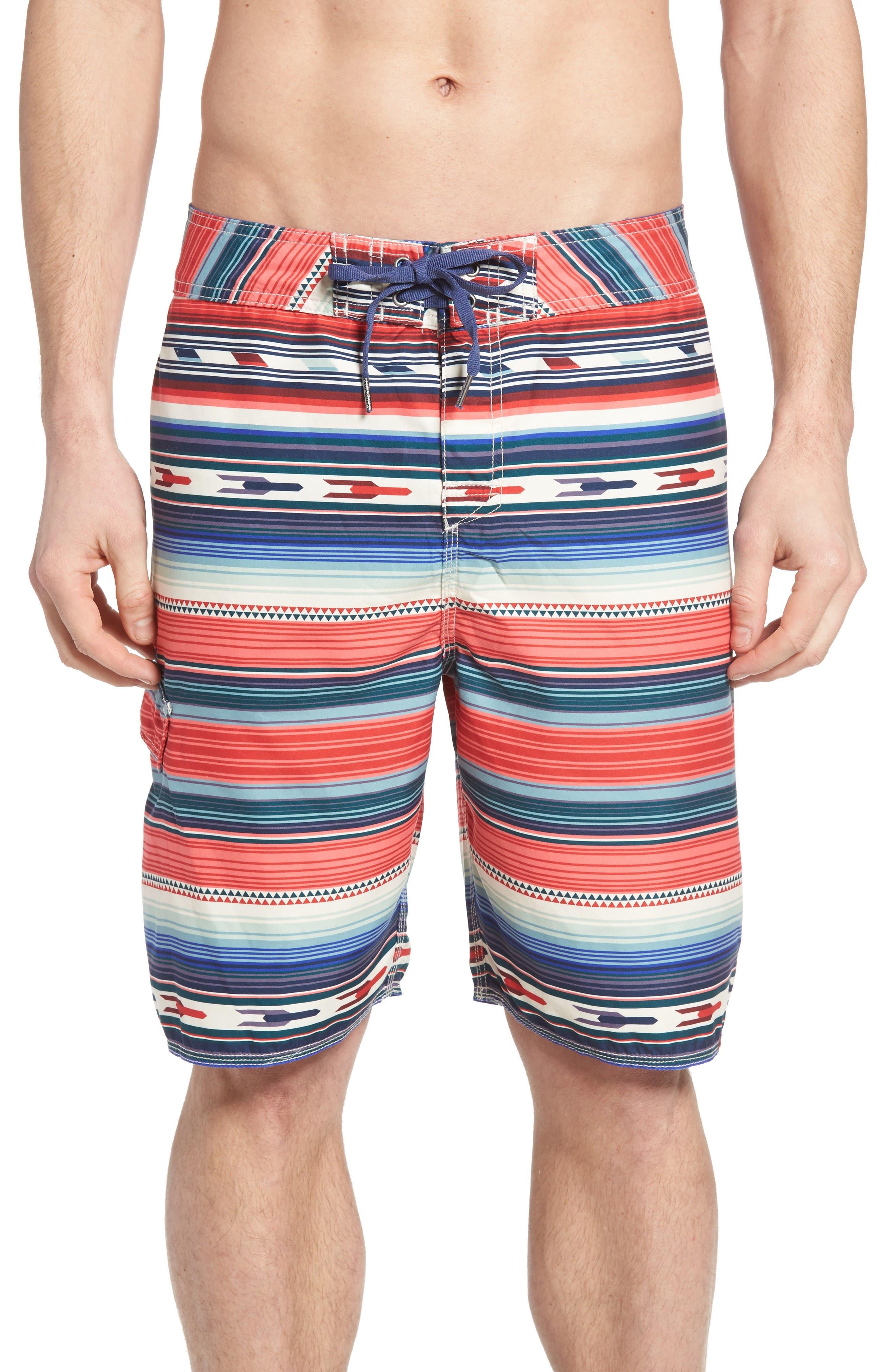 True Grit Serape Stripe Board Shorts
