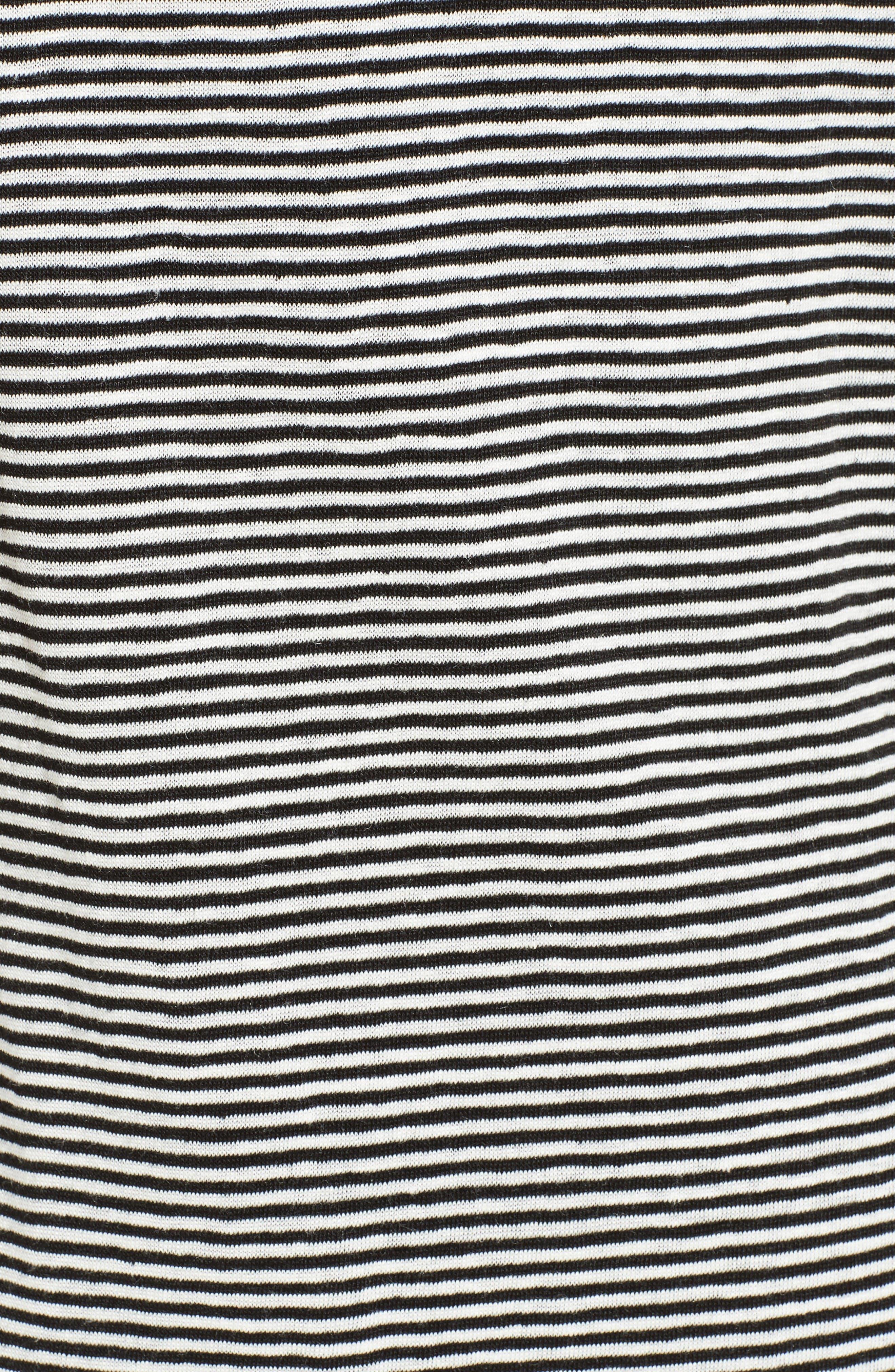 Alternate Image 5  - A.L.C. Asher Stripe Linen Midi Dress