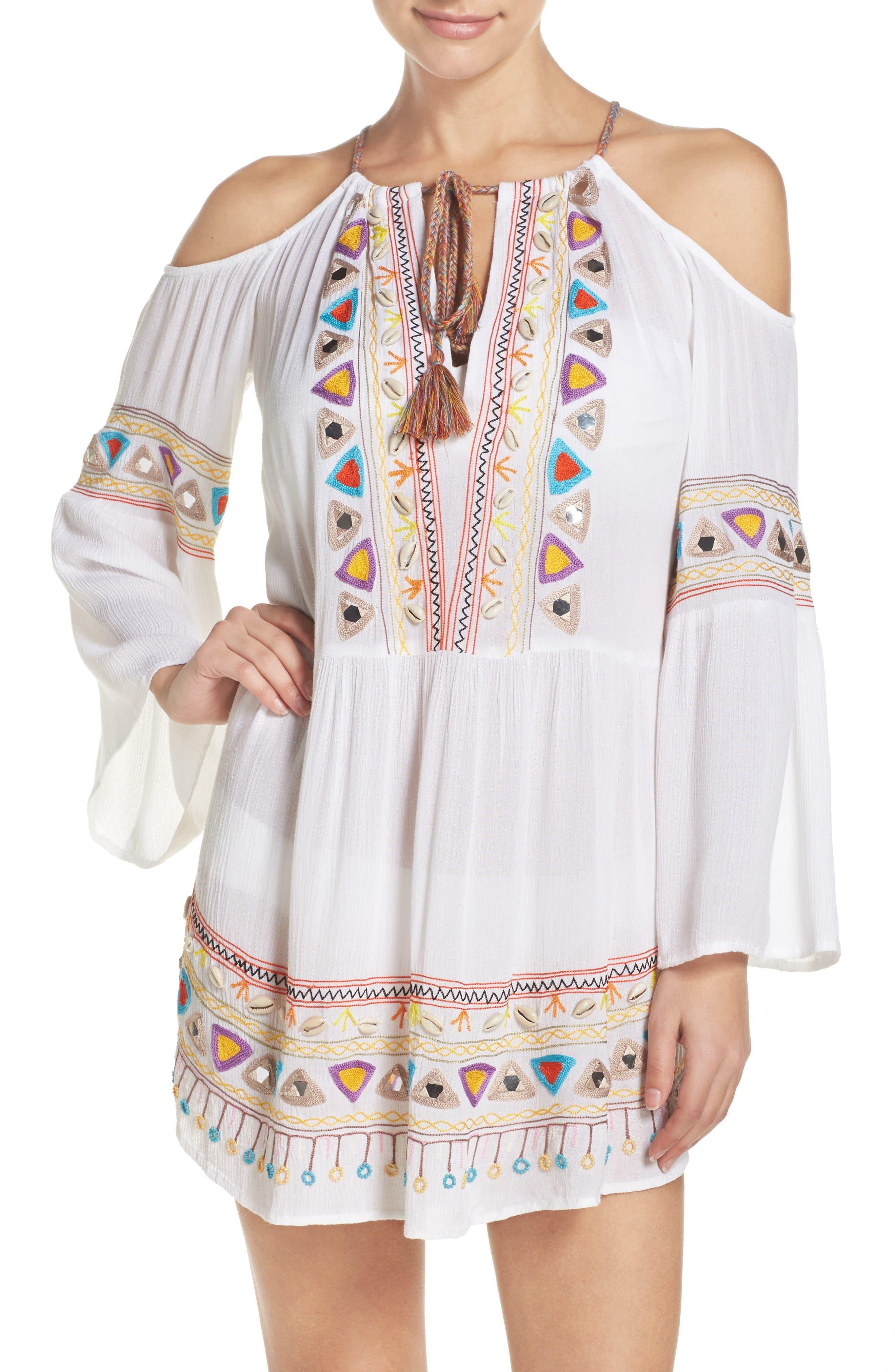 Nanette Lepore Cold Shoulder Cover-Up Dress
