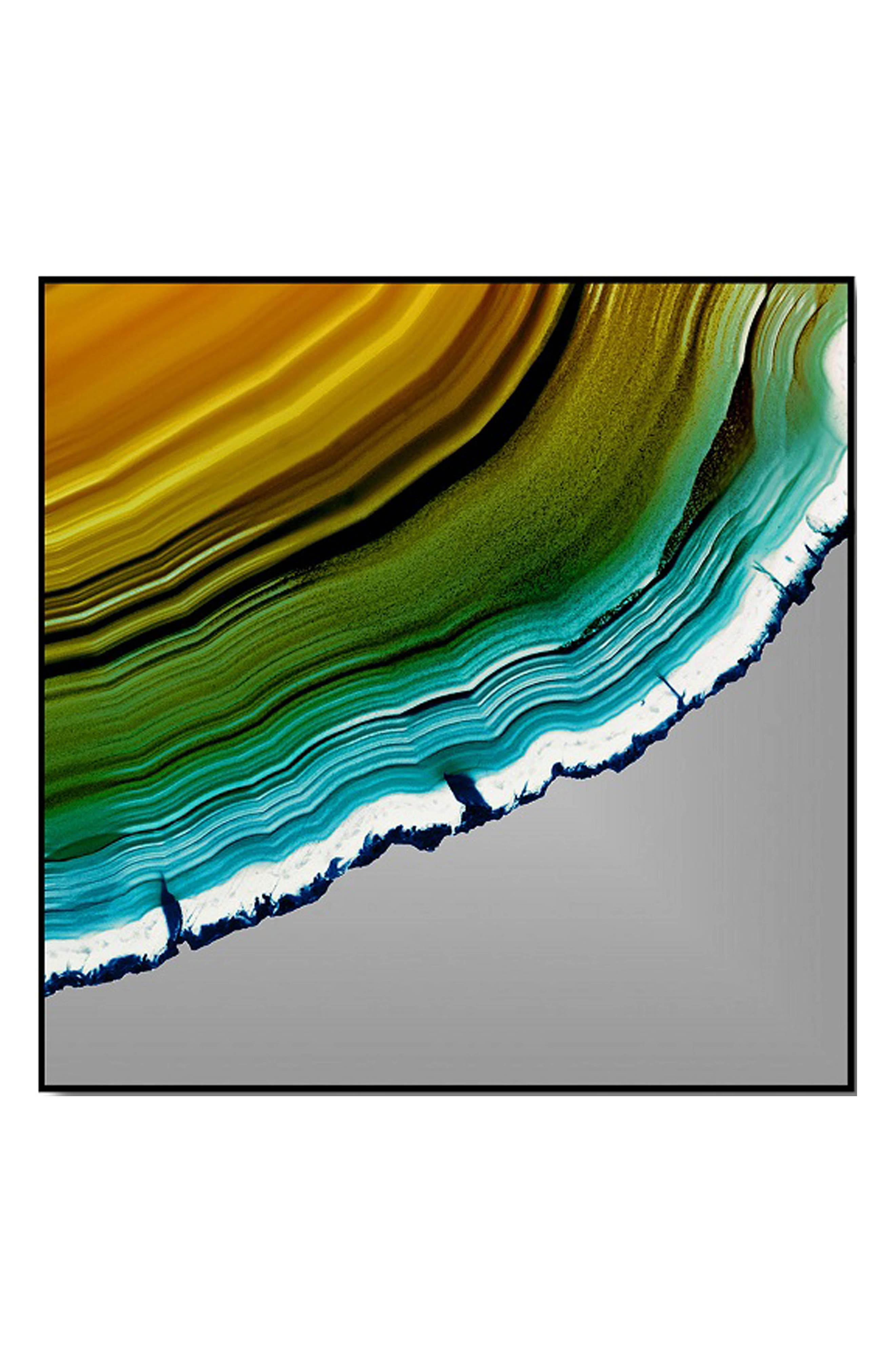 Crystal Art Gallery Orange Teal Agate Print Wall Art
