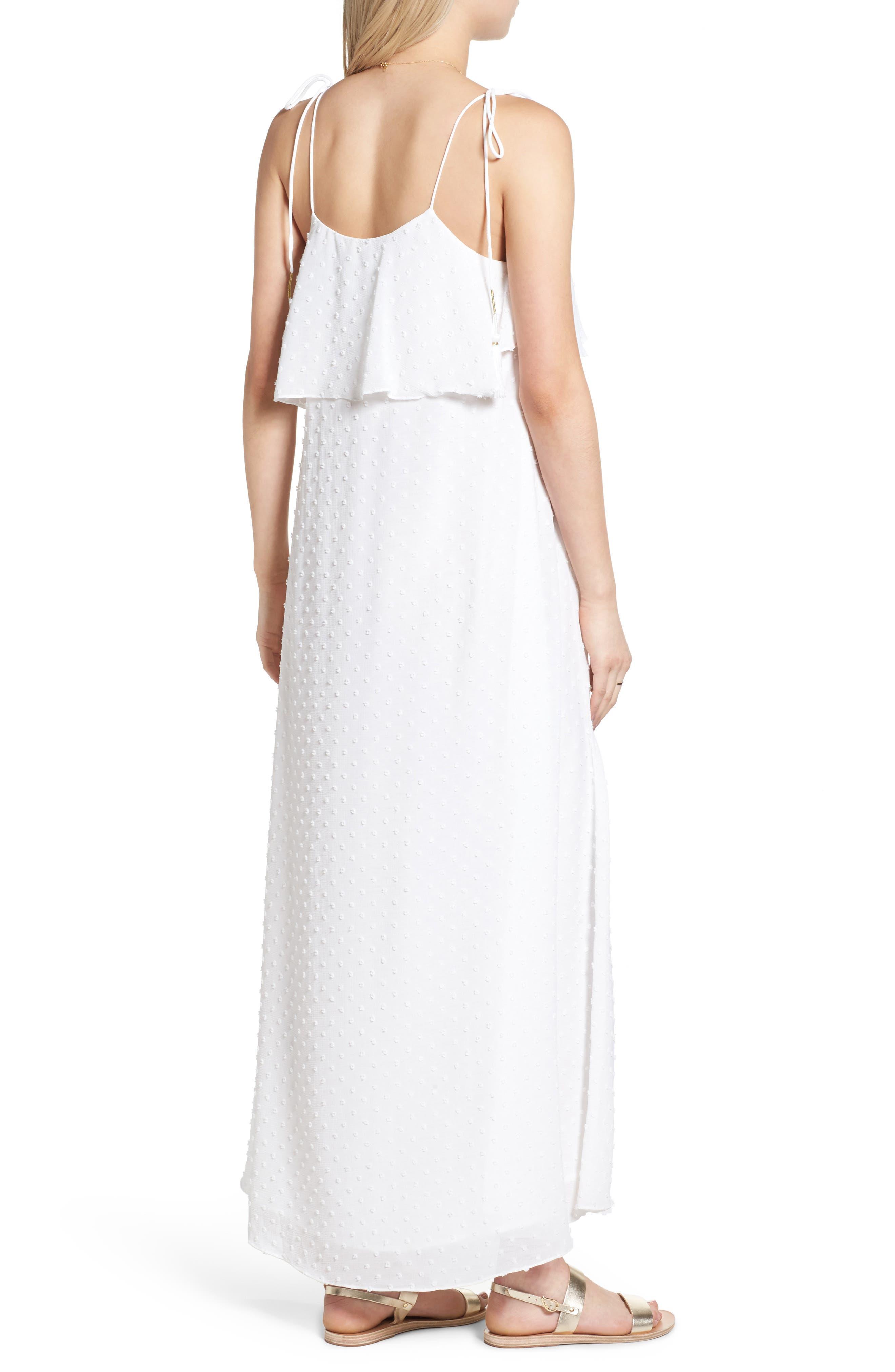 Alternate Image 3  - MOON RIVER Swiss Dot Maxi Dress