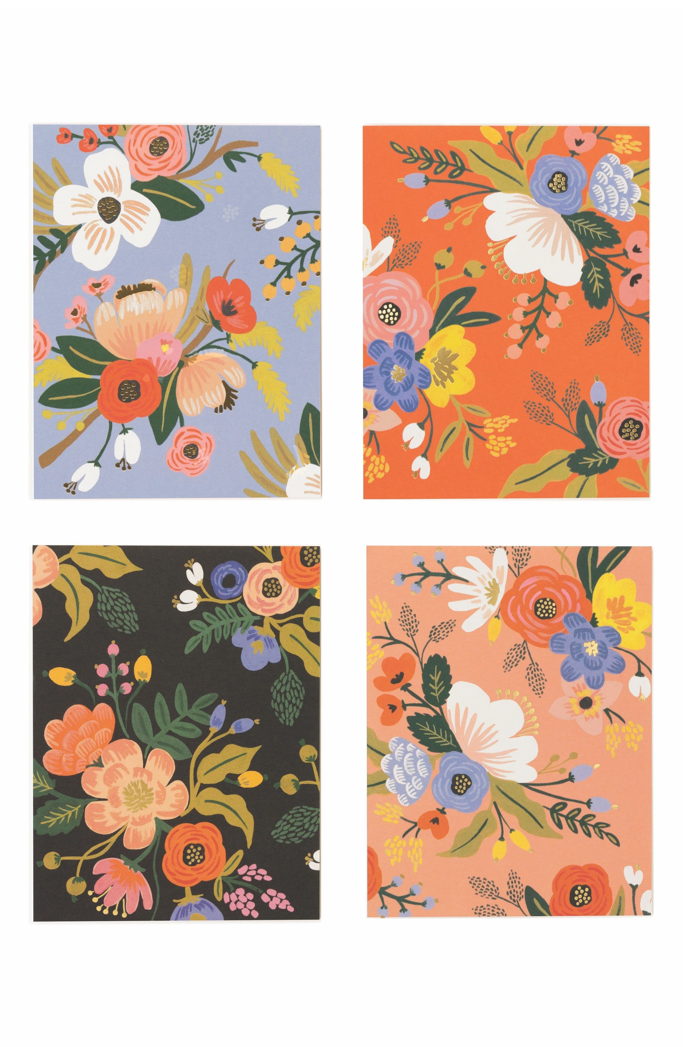 Rifle Paper Co. Lively Floral Assorted Note Cards (Set of 8)