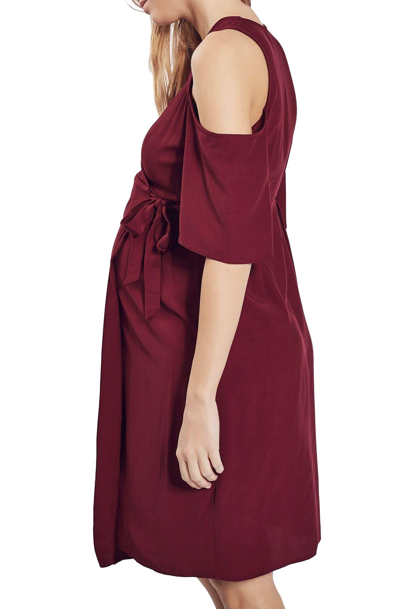 Alternate Image 3  - Topshop Cold Shoulder Wrap Maternity Dress