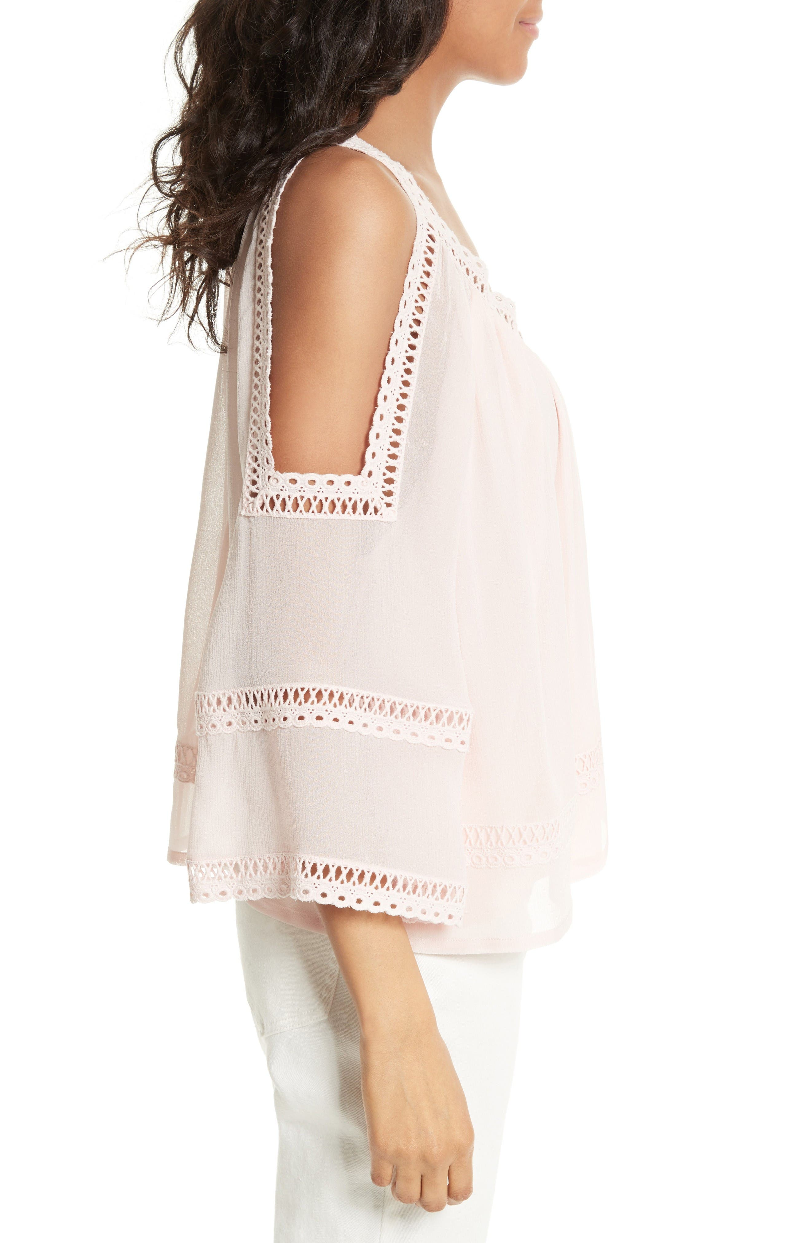 Alternate Image 3  - Rebecca Minkoff Deneuve Crochet Blouse