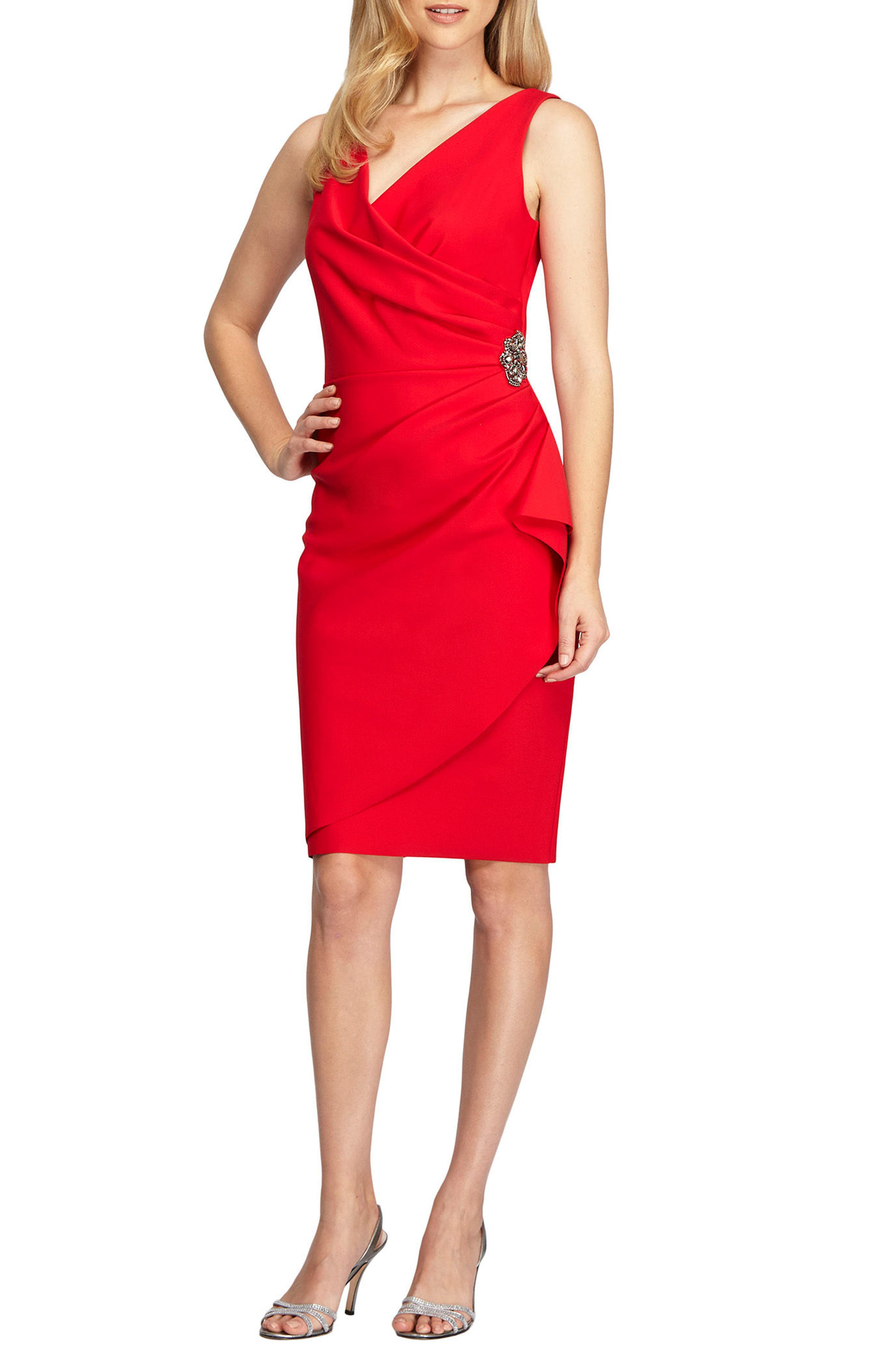 Main Image - Alex Evenings Side Ruched Dress (Regular & Petite)