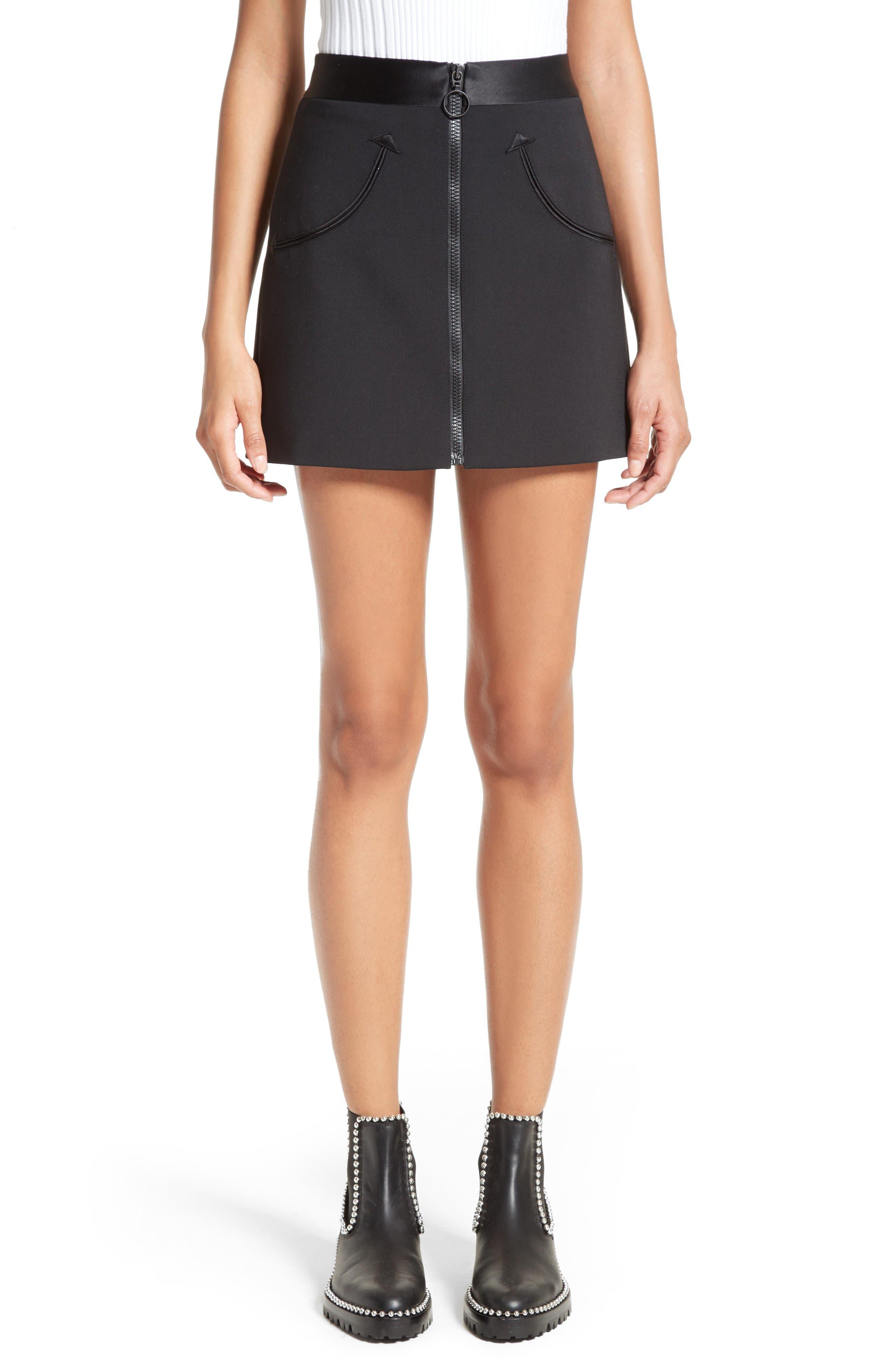 ALEXANDER WANG Zip Front Miniskirt