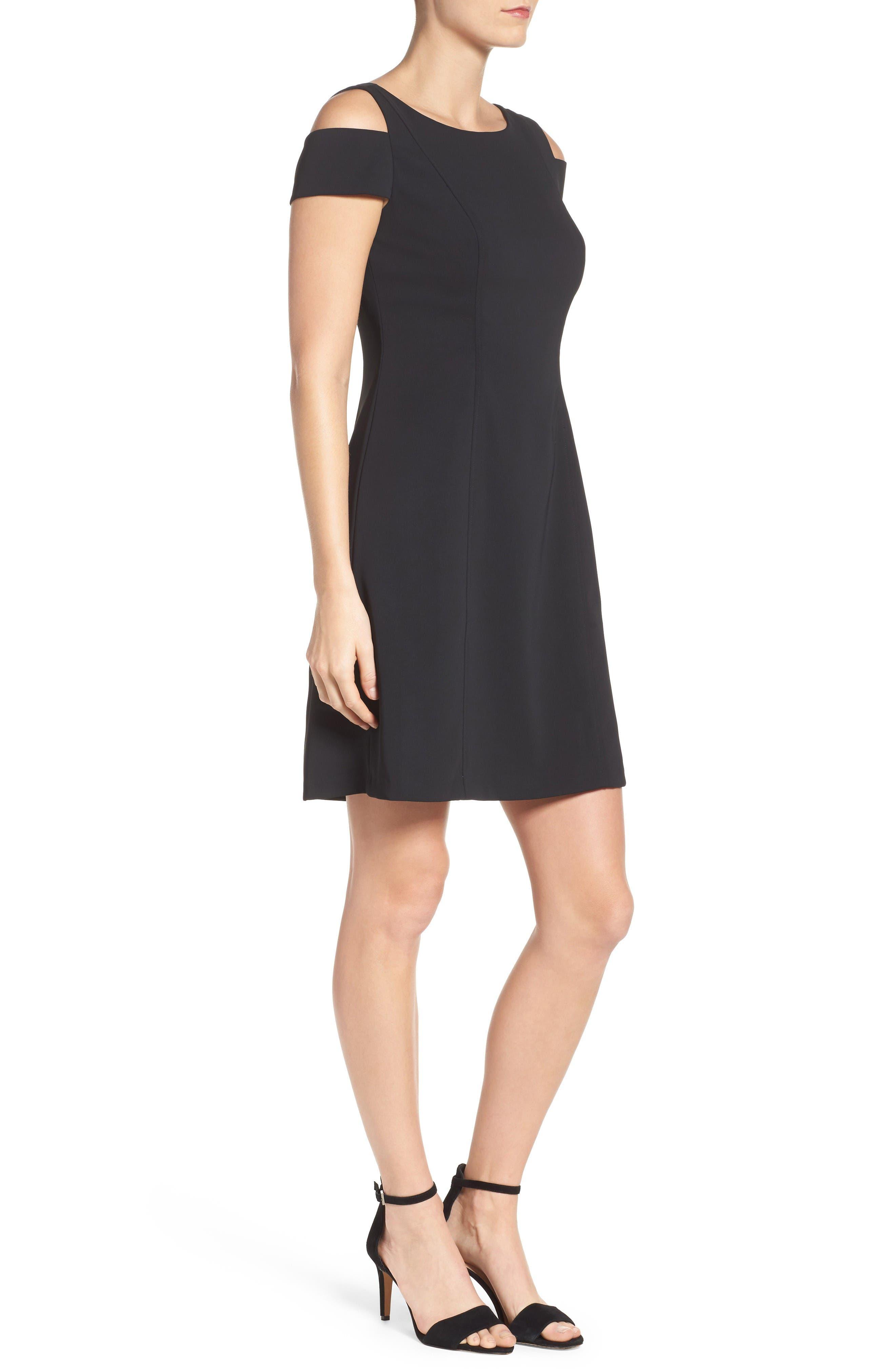 Alternate Image 3  - Adrianna Papell Cold Shoulder Stretch A-Line Dress