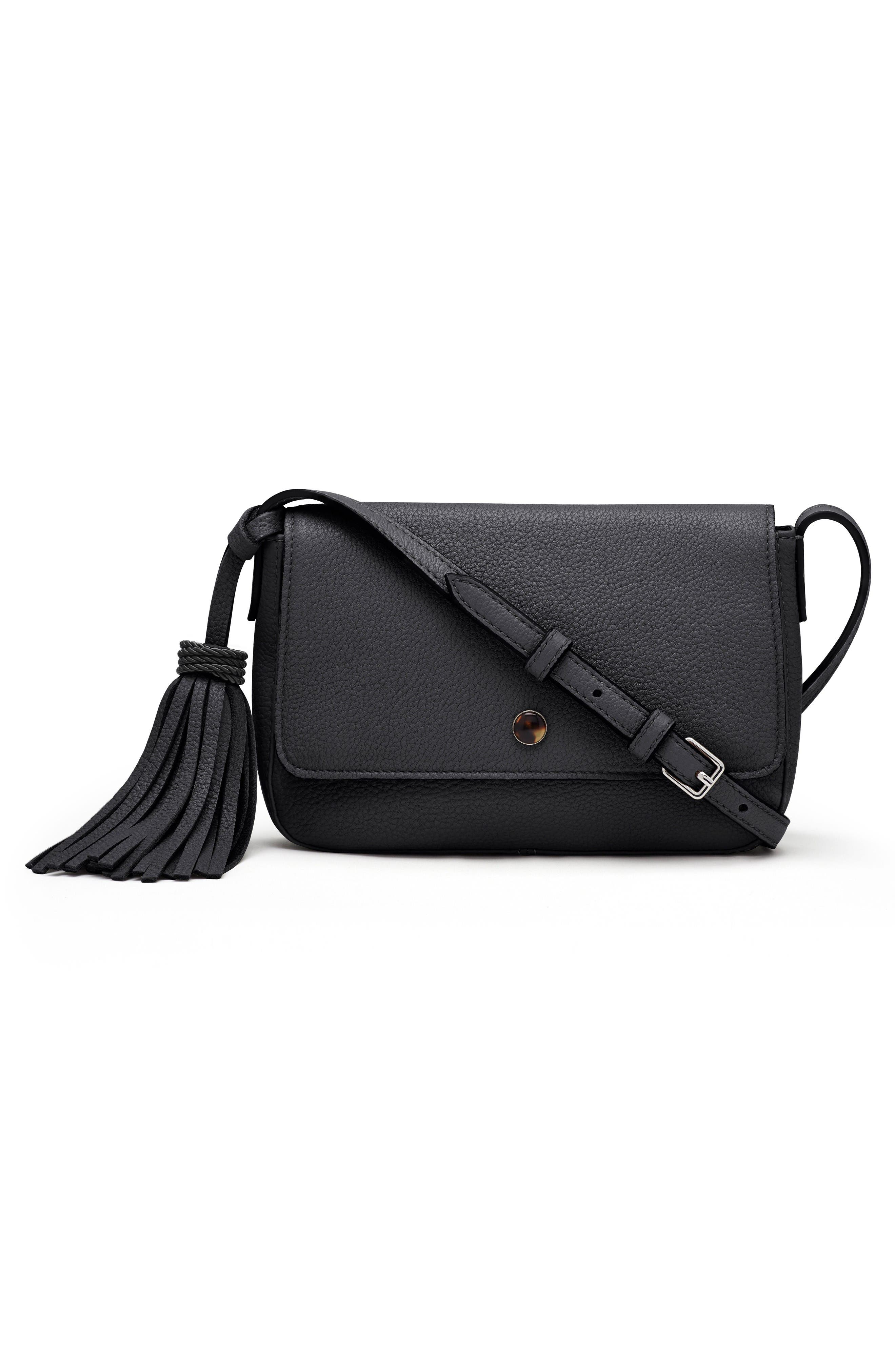 Elizabeth and James Micro Cynnie Leather Crossbody Bag