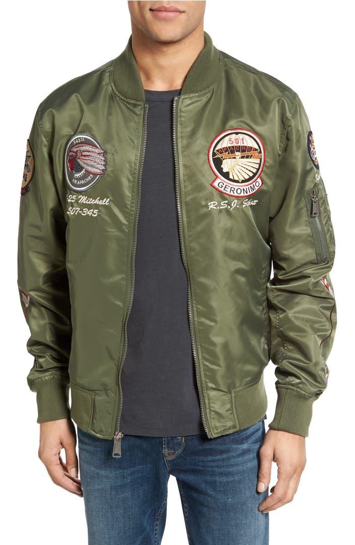 schott nyc b 52 bomber jacket nordstrom. Black Bedroom Furniture Sets. Home Design Ideas