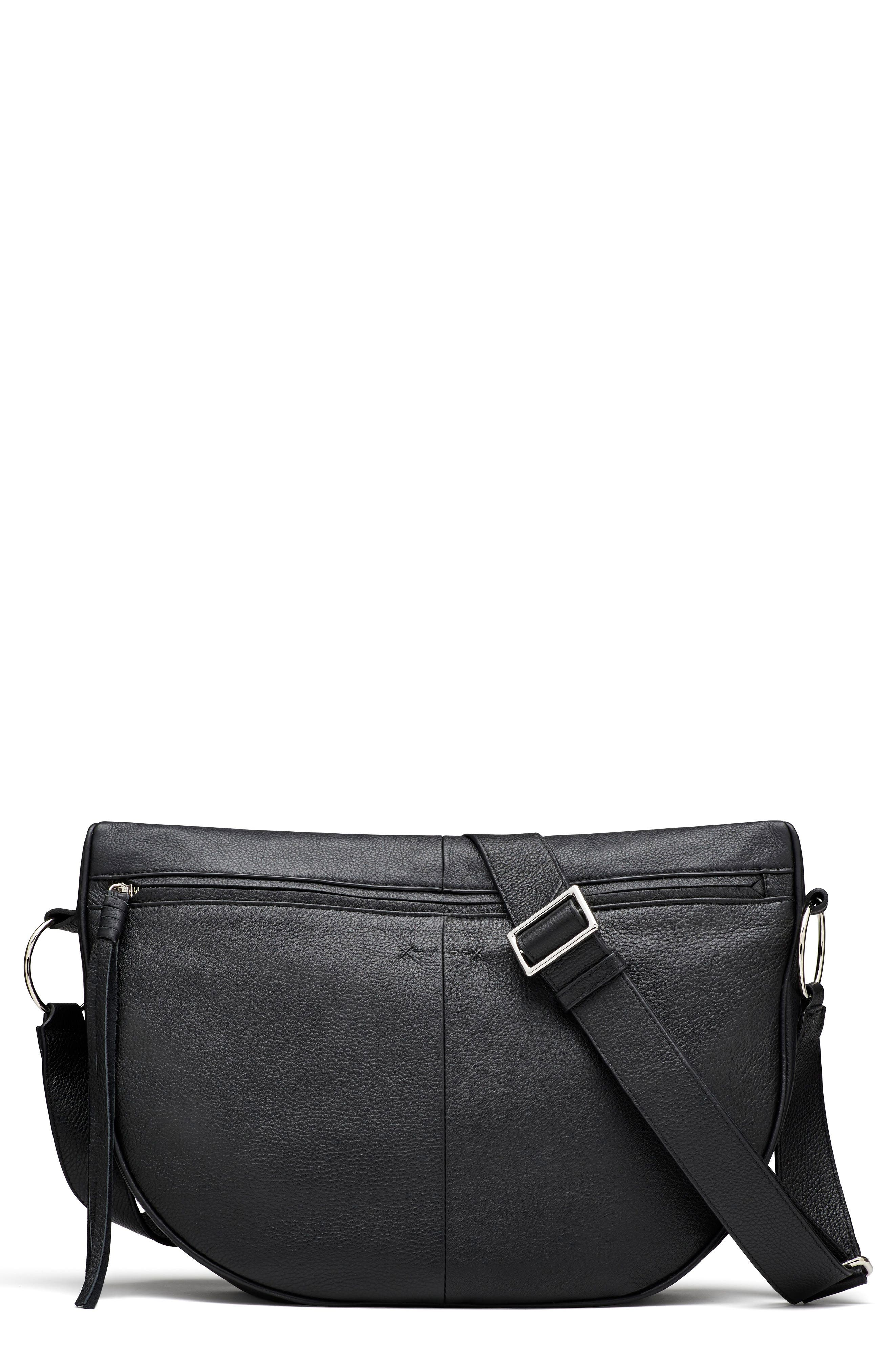 Elizabeth and James Finley Moon Leather Crossbody Bag
