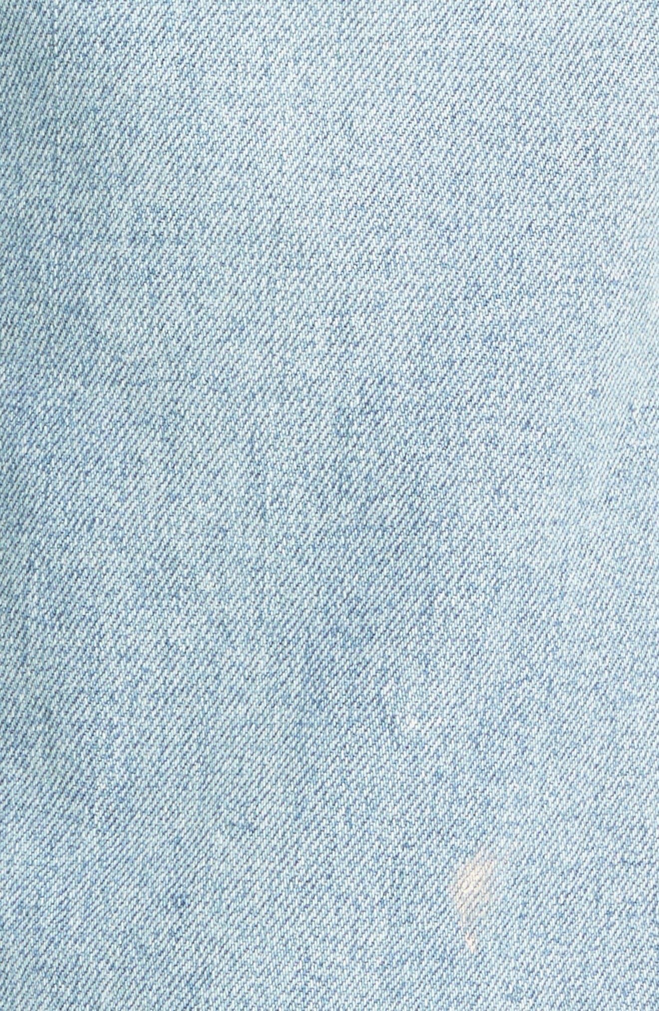 Alternate Image 6  - La Vie Rebecca Taylor Paint Splatter Straight Leg Jeans