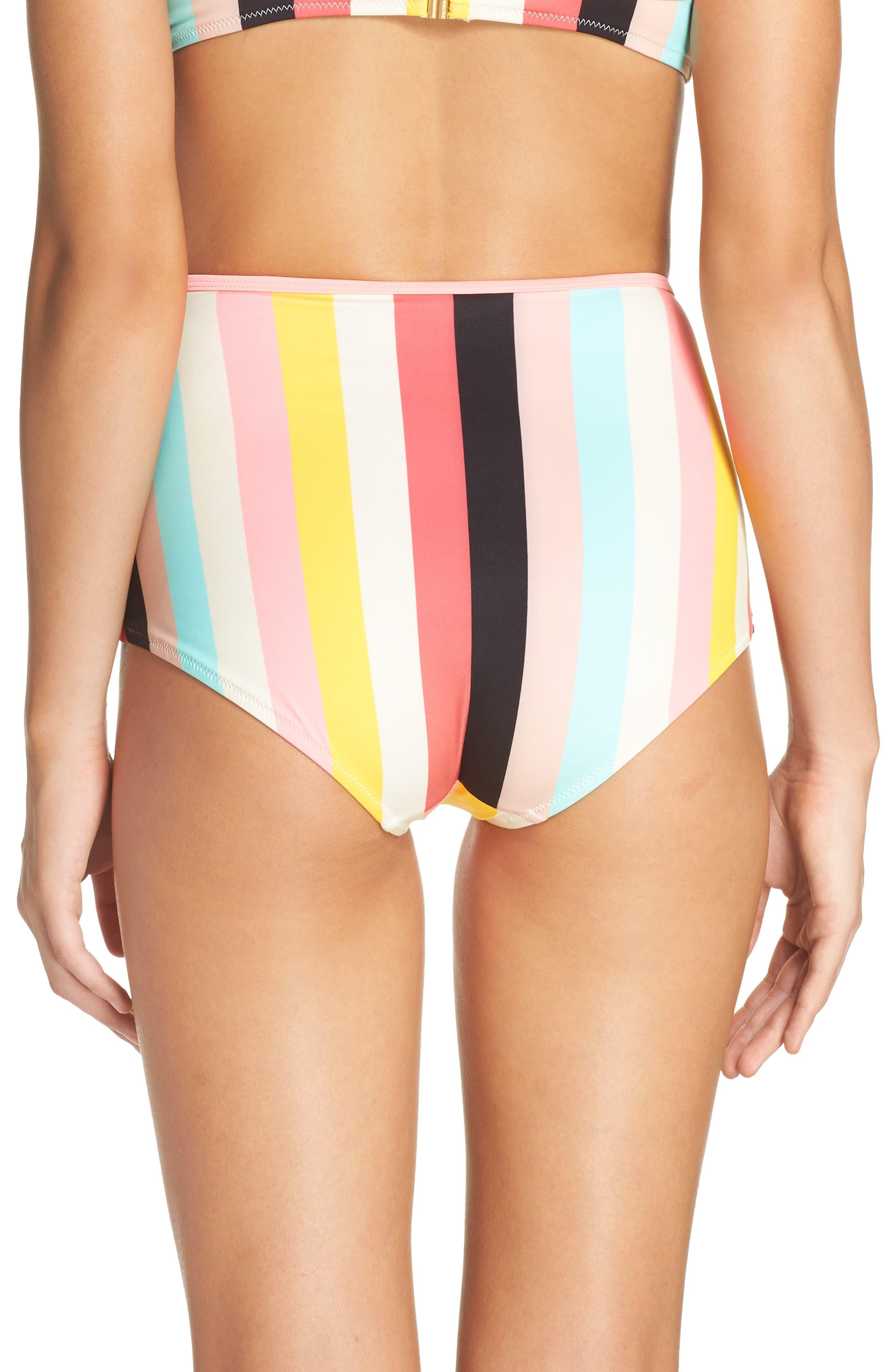Alternate Image 2  - Solid & Striped Brigitte High Waist Bikini Bottoms