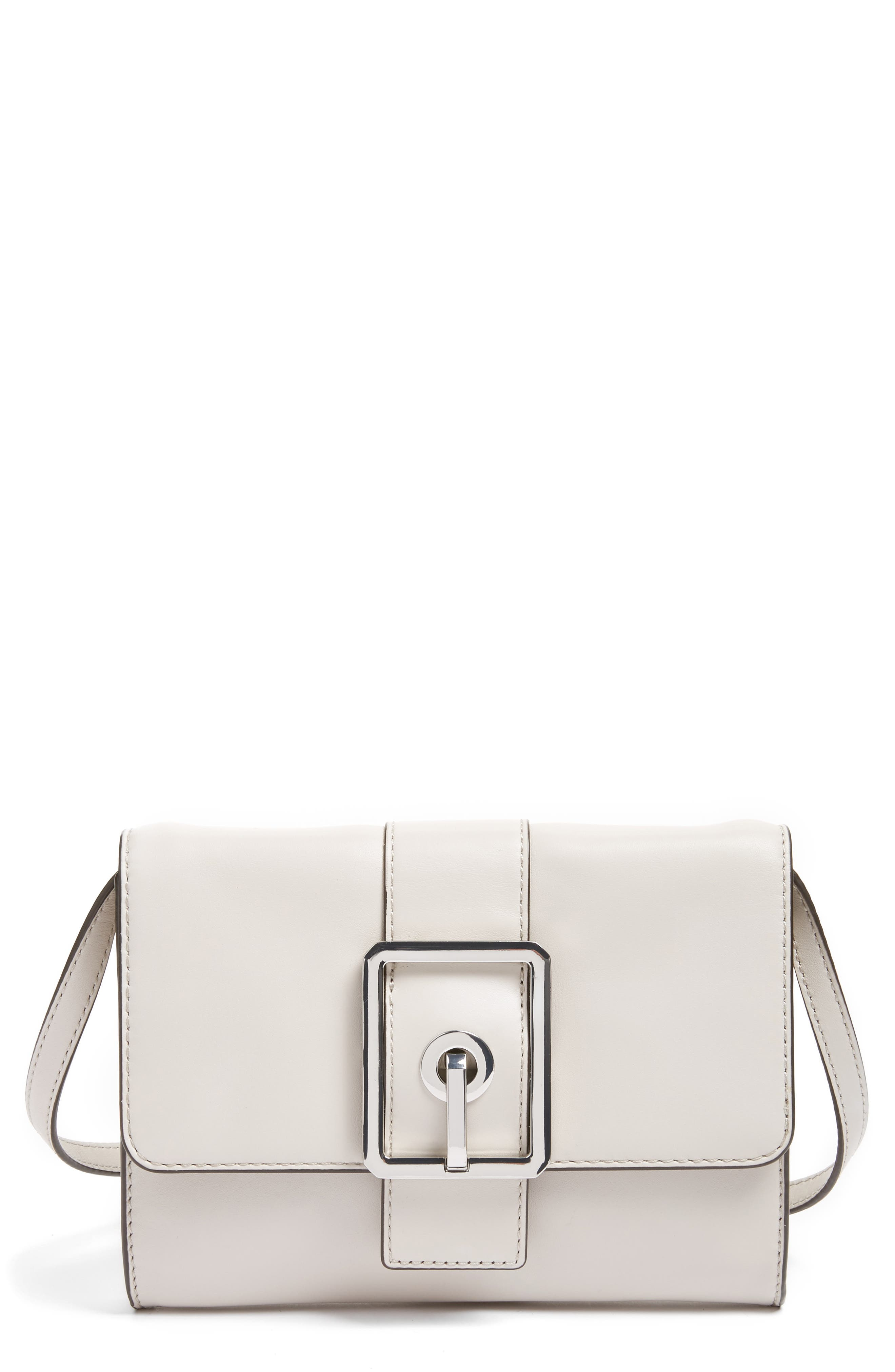 Main Image - Rebecca Minkoff Hook Up Convertible Leather Clutch