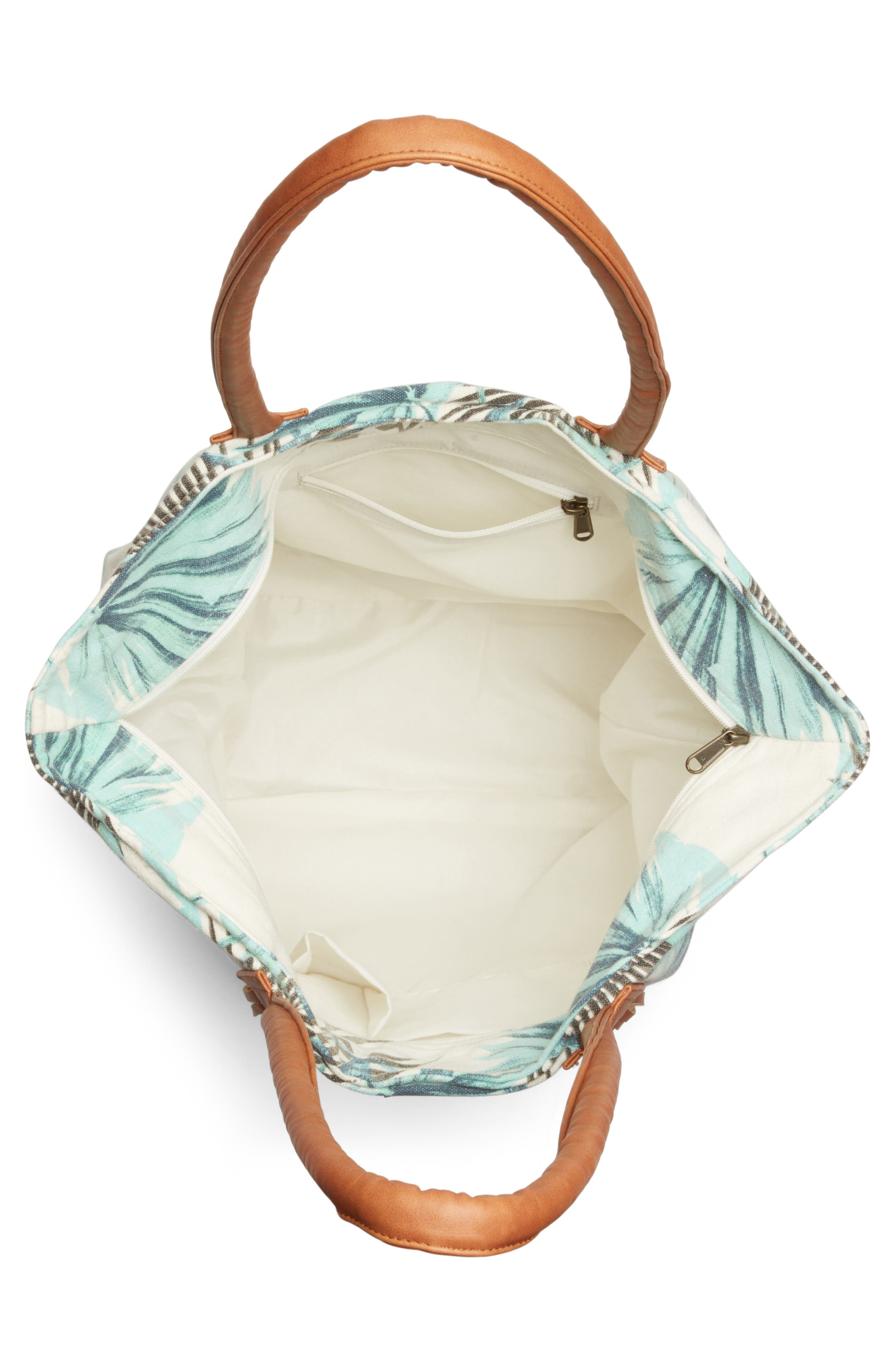 Alternate Image 4  - Rip Curl Palm Print Beach Tote