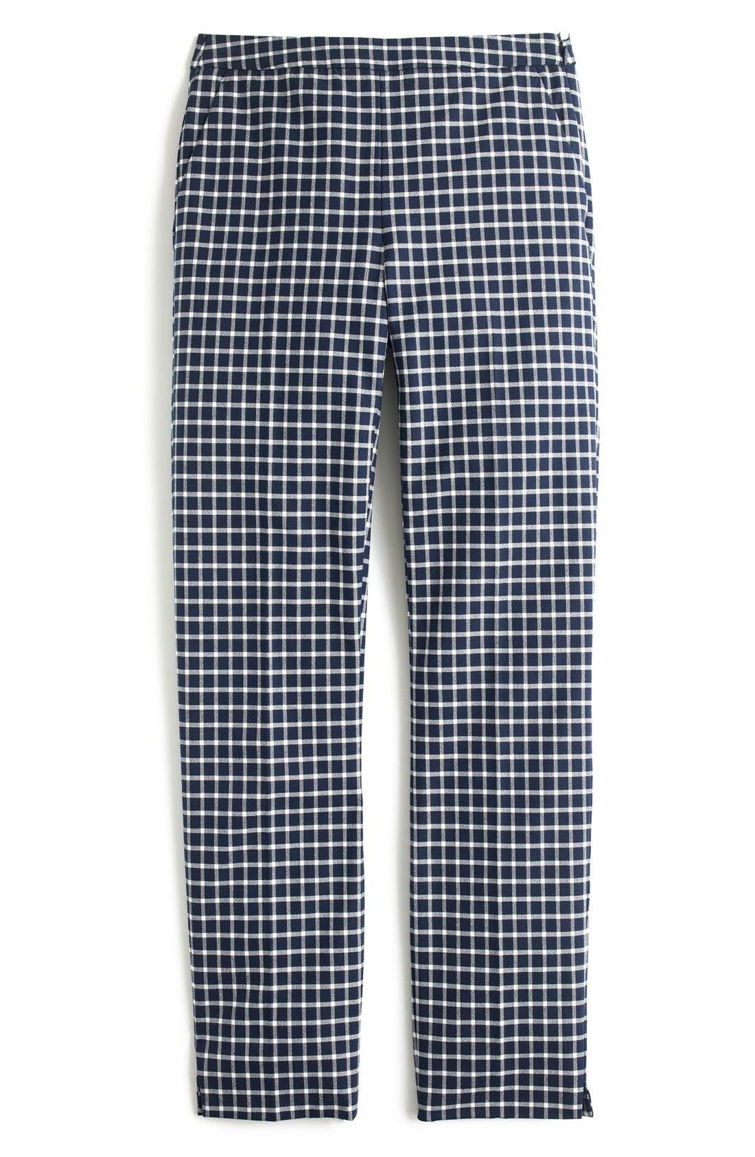 Alternate Image 3  - J.Crew Martie Windowpane Print Pants (Regular & Petite)