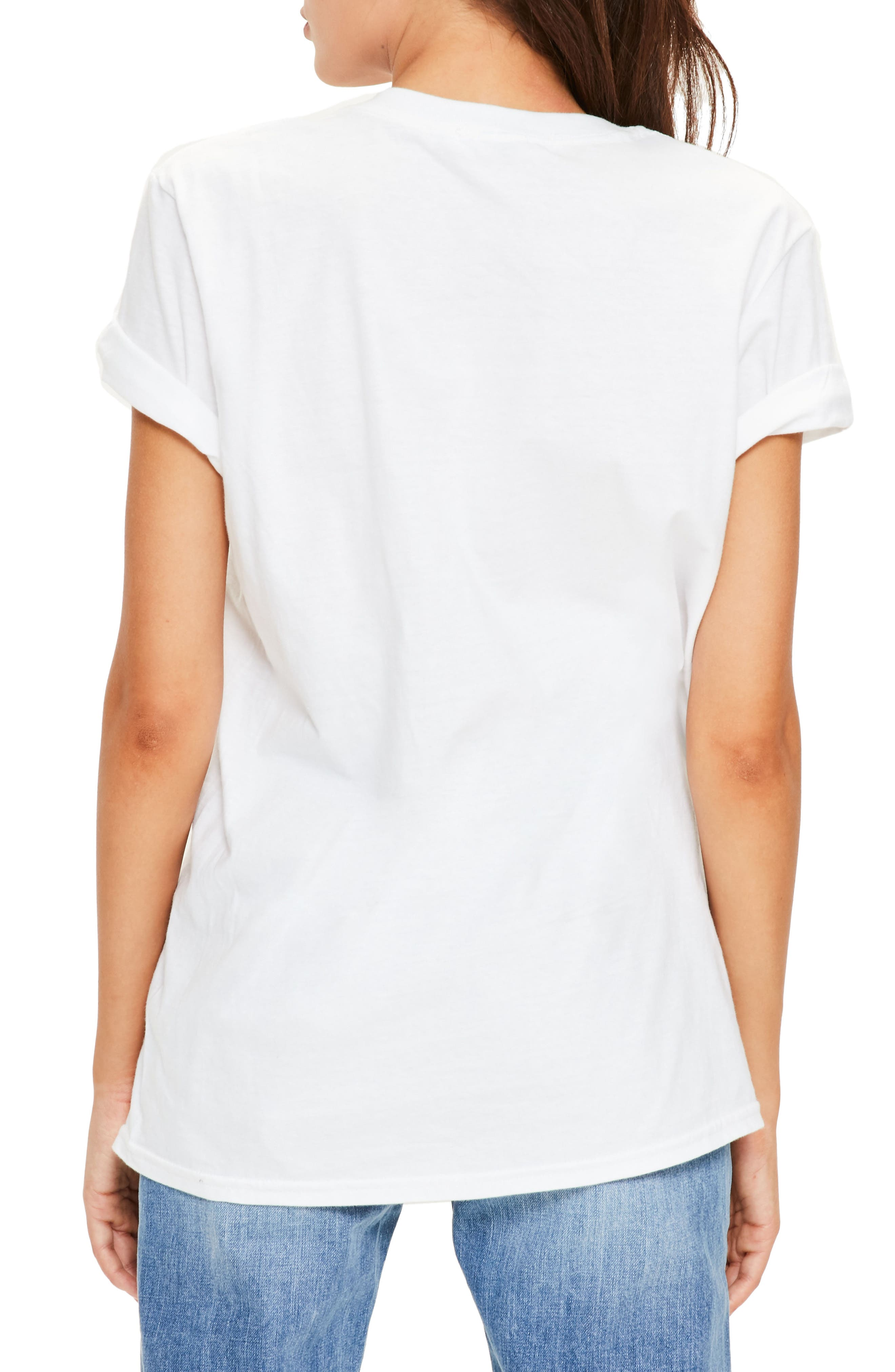Alternate Image 3  - Missguided Floral Print Graphic Tee