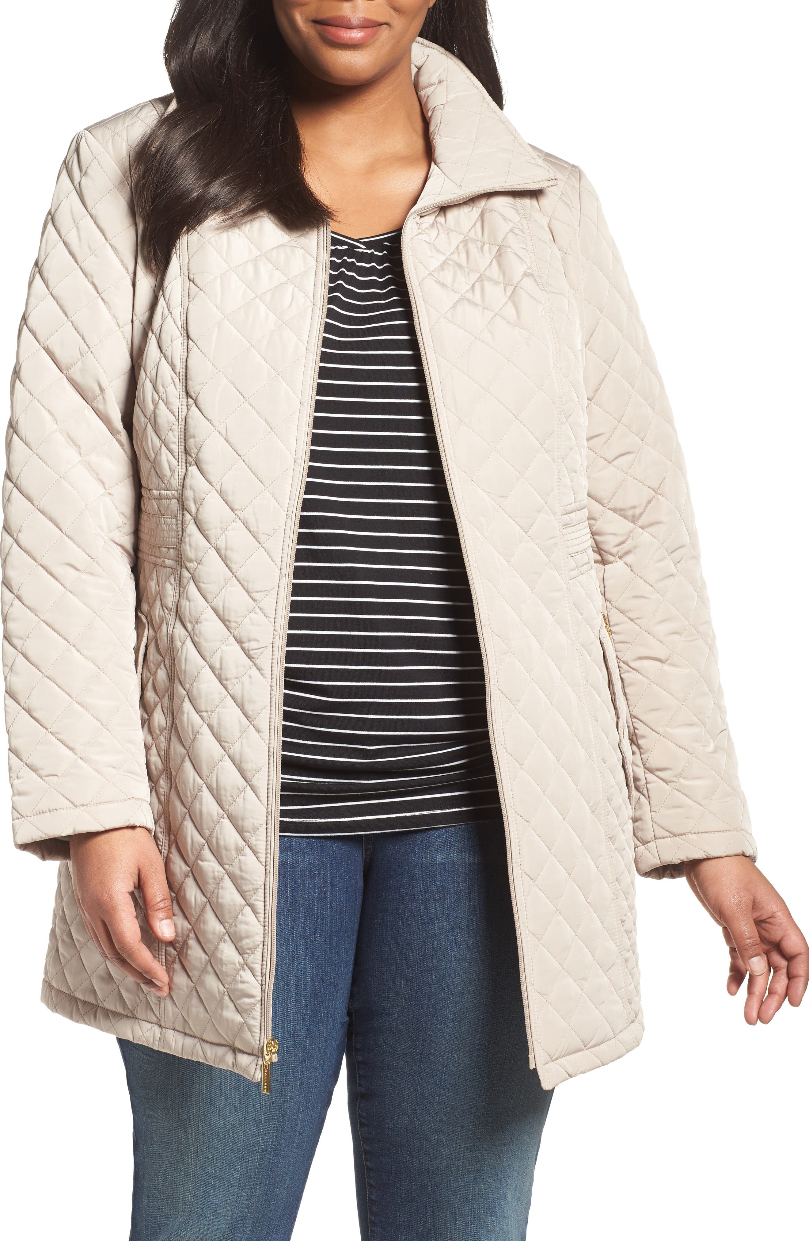 Gallery Side Tab Quilted Jacket (Plus Size)
