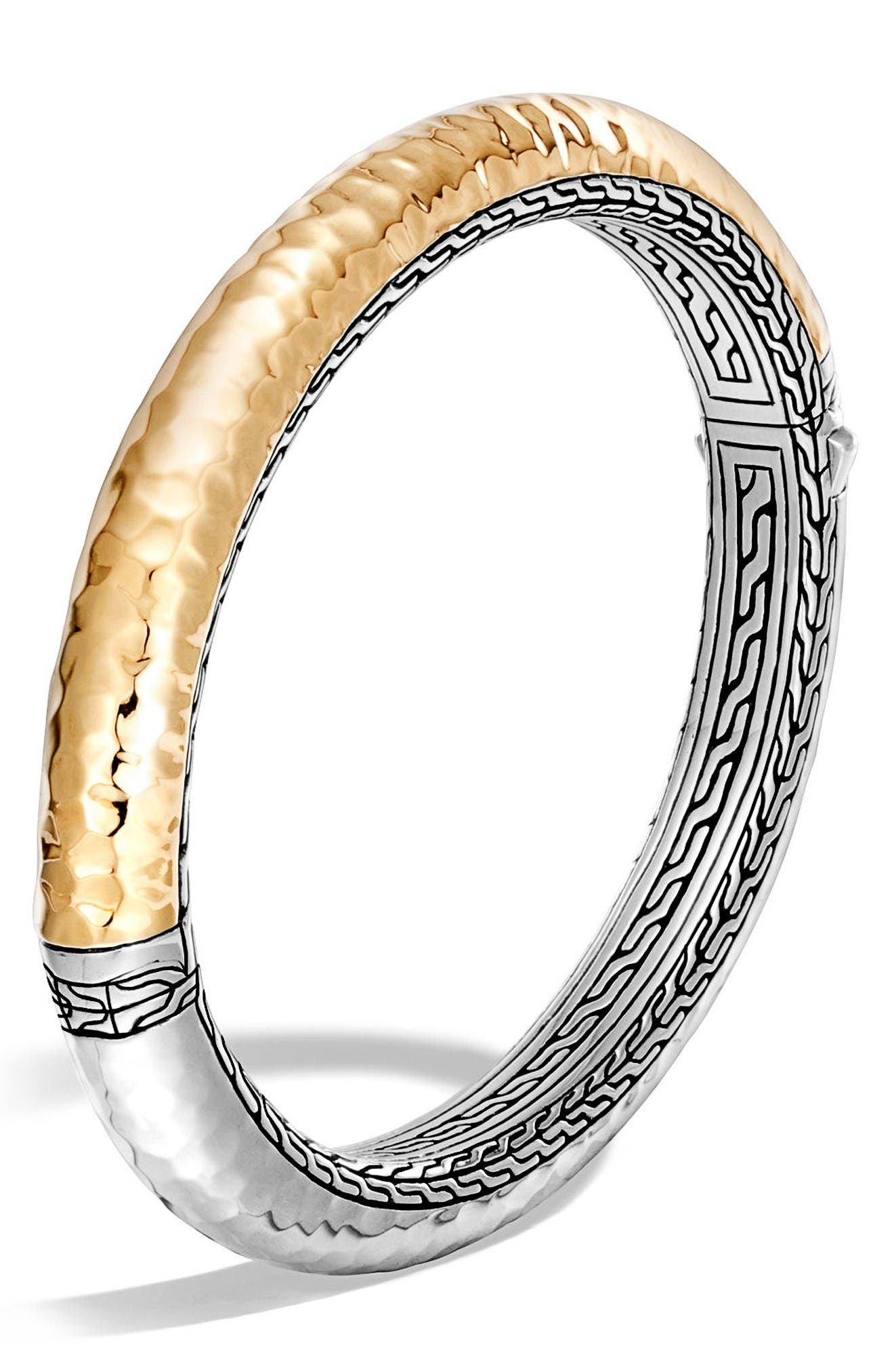 JOHN HARDY Classic Chain Hammered Hinge Bangle