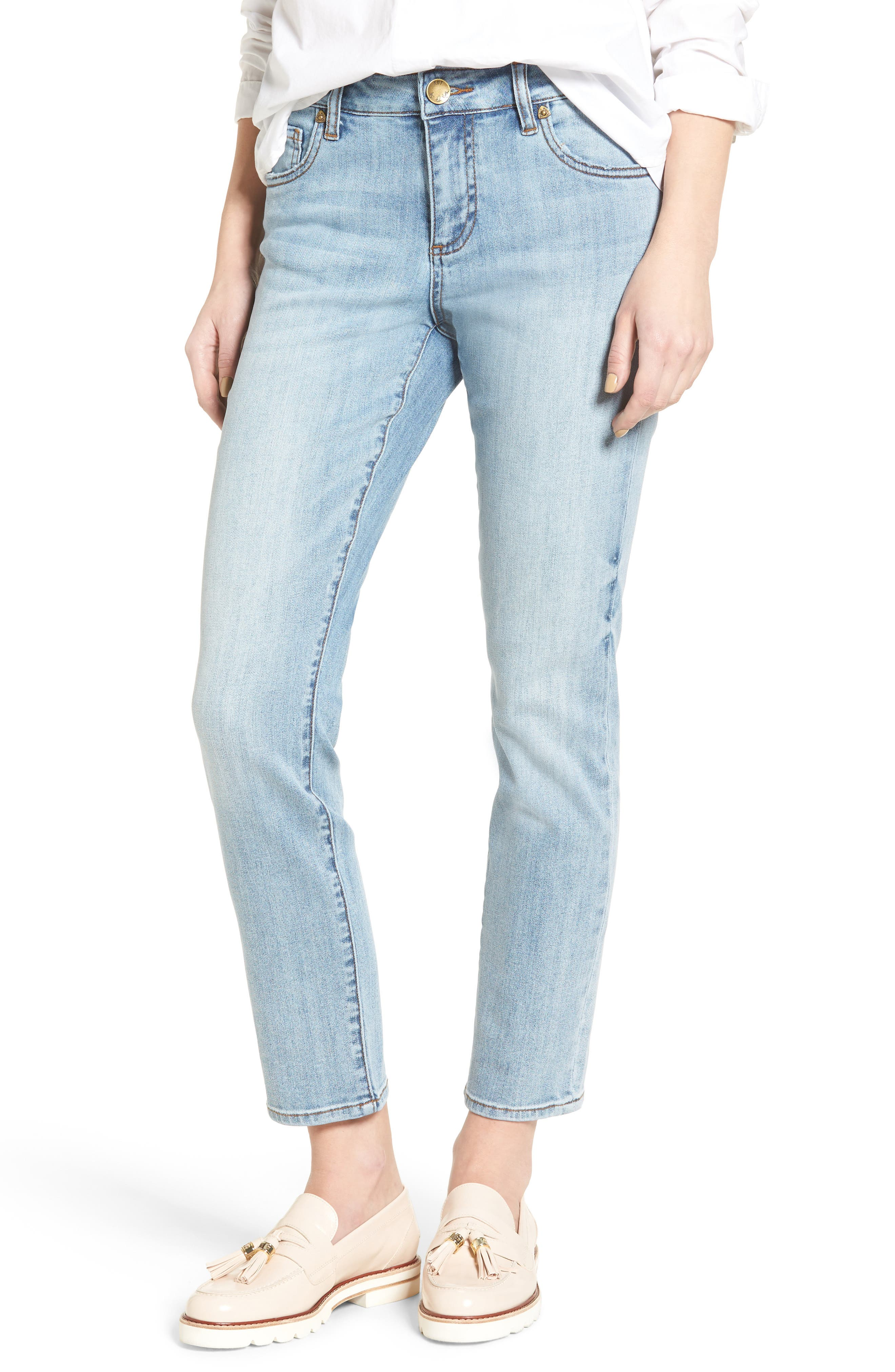 Alternate Image 1 Selected - KUT from the Kloth Reese Stretch Ankle Straight Leg Jeans (Celebratory)