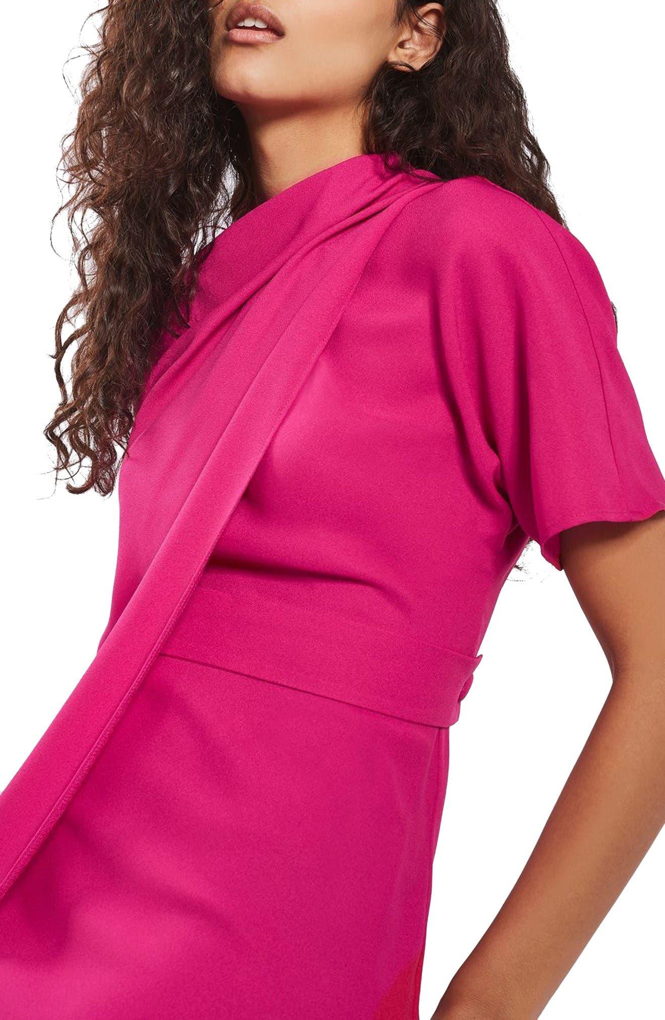 Alternate Image 5  - Topshop Origami Drape Neck Midi Dress