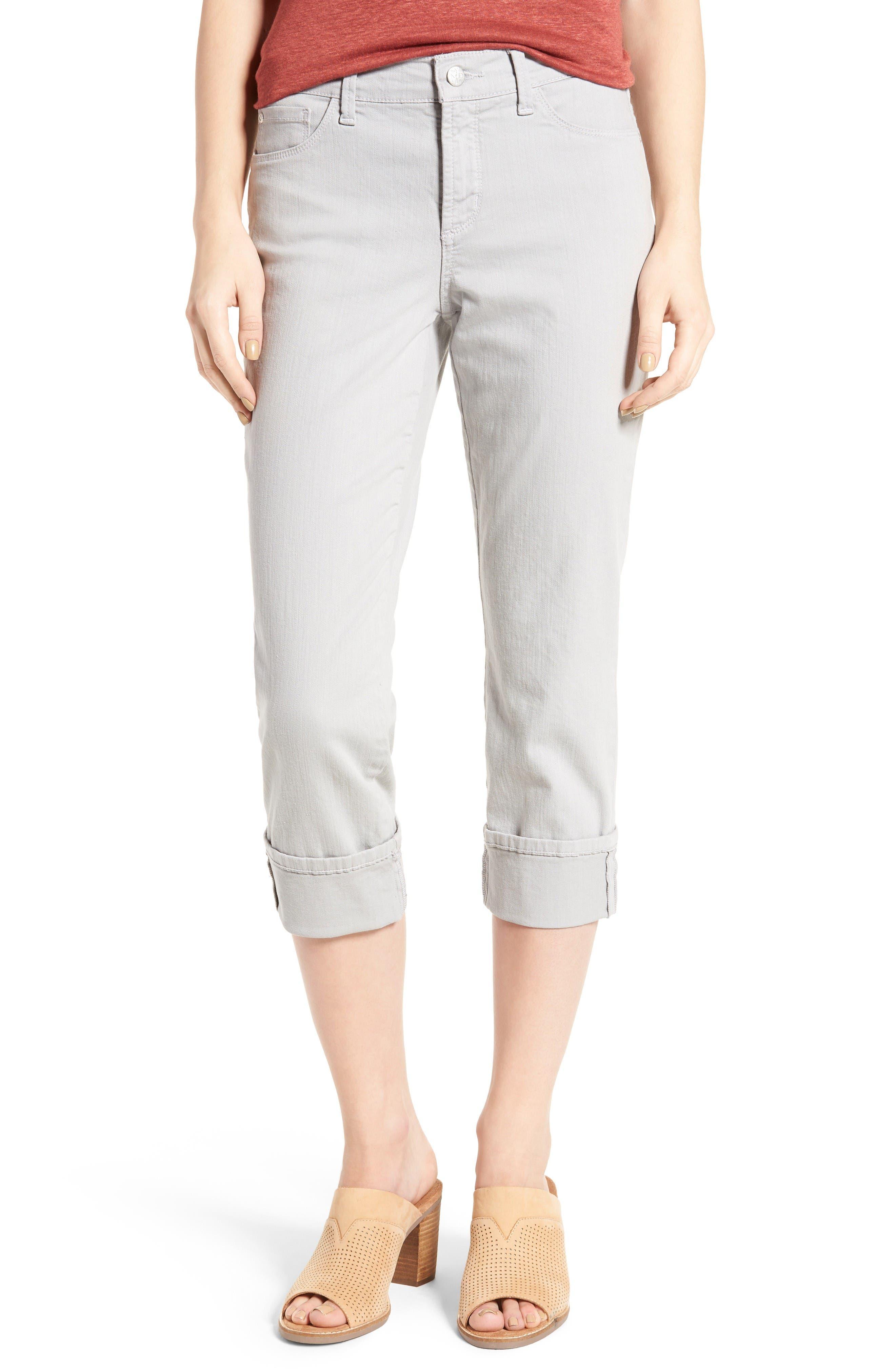NYDJ Dayla Colored Wide Cuff Capri Jeans (Regular & Petite)