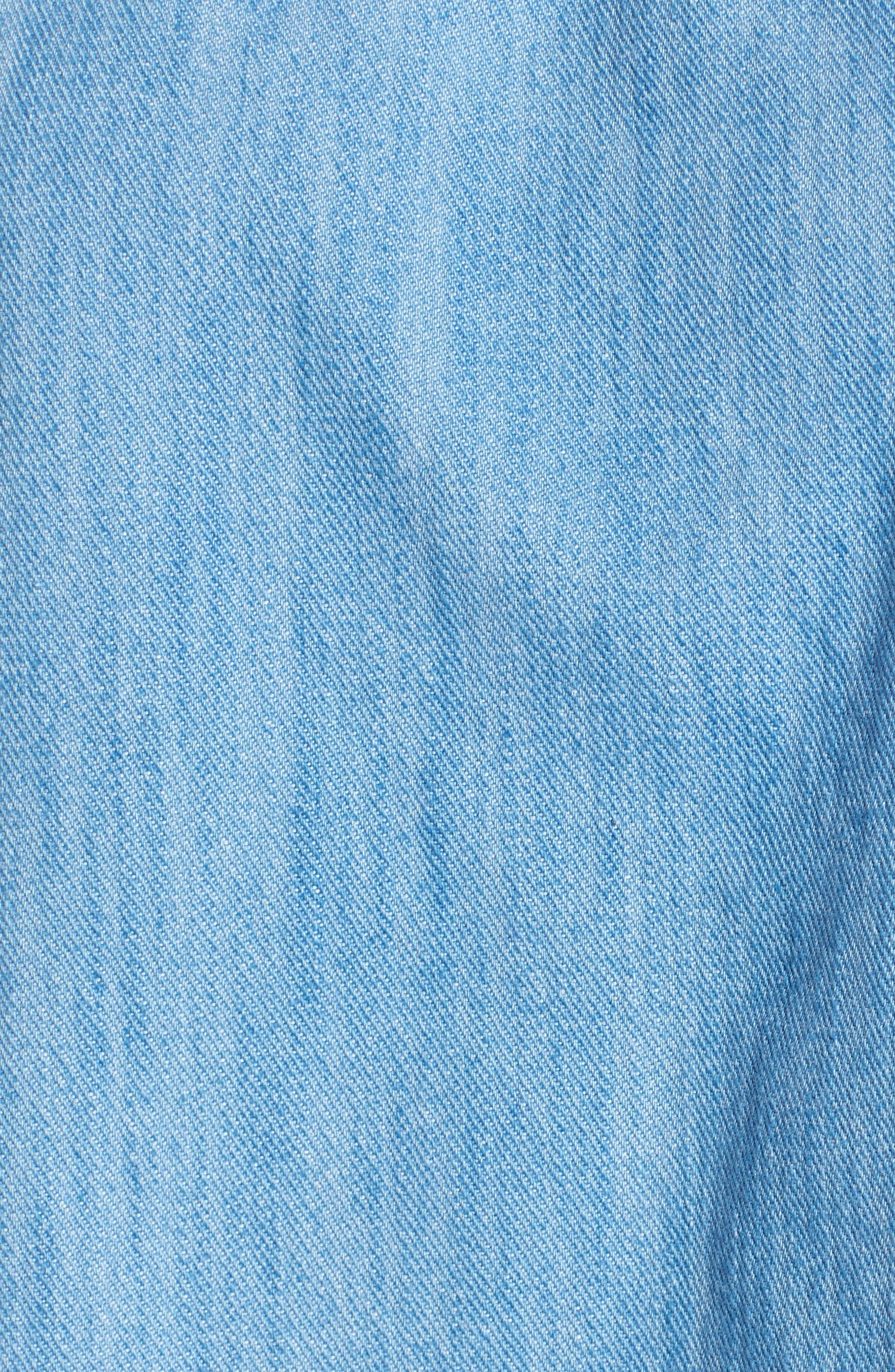 Alternate Image 5  - Tinsel Frayed Denim Off the Shoulder Top