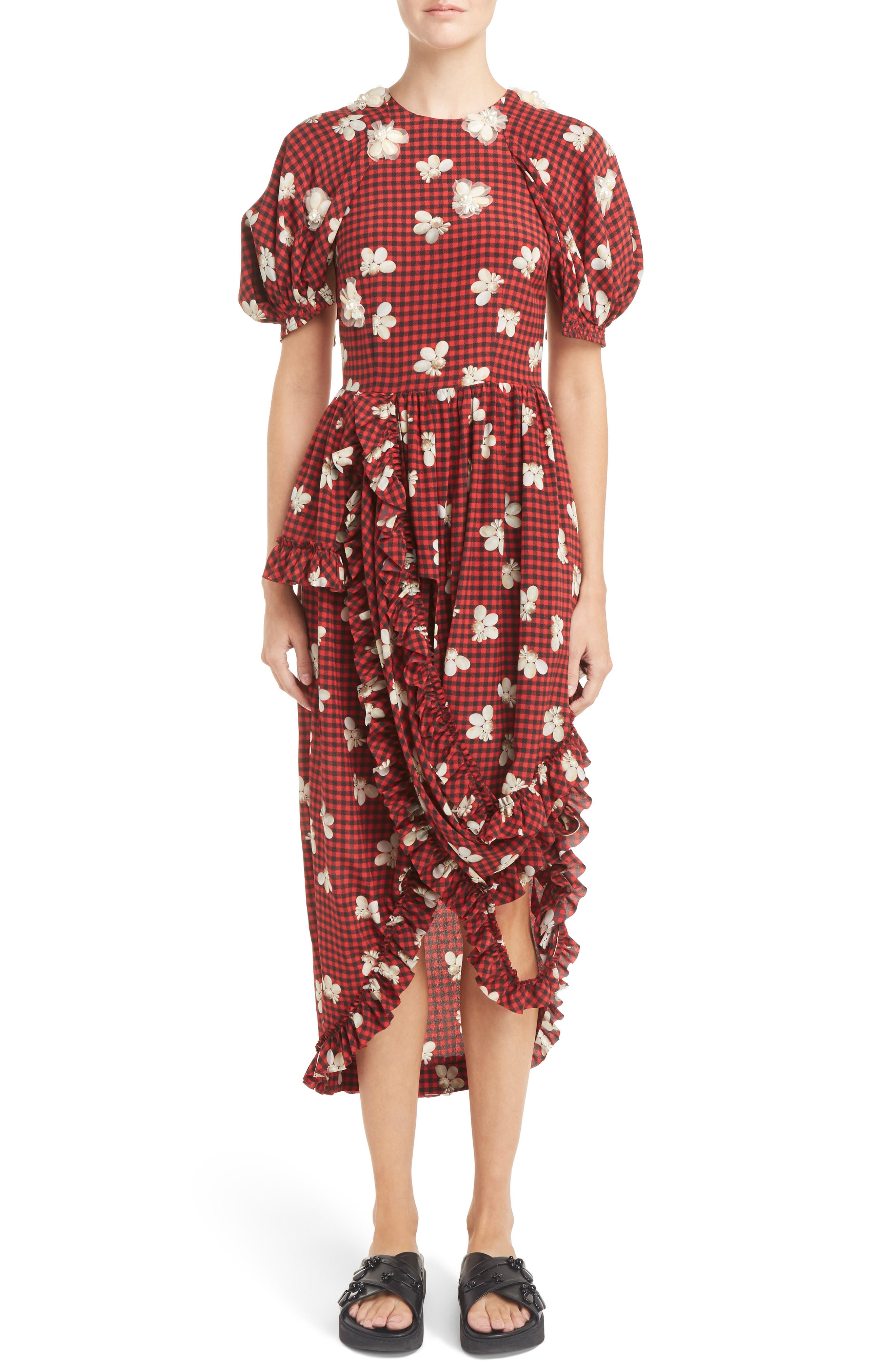SIMONE ROCHA Beaded Drop Frill Dress