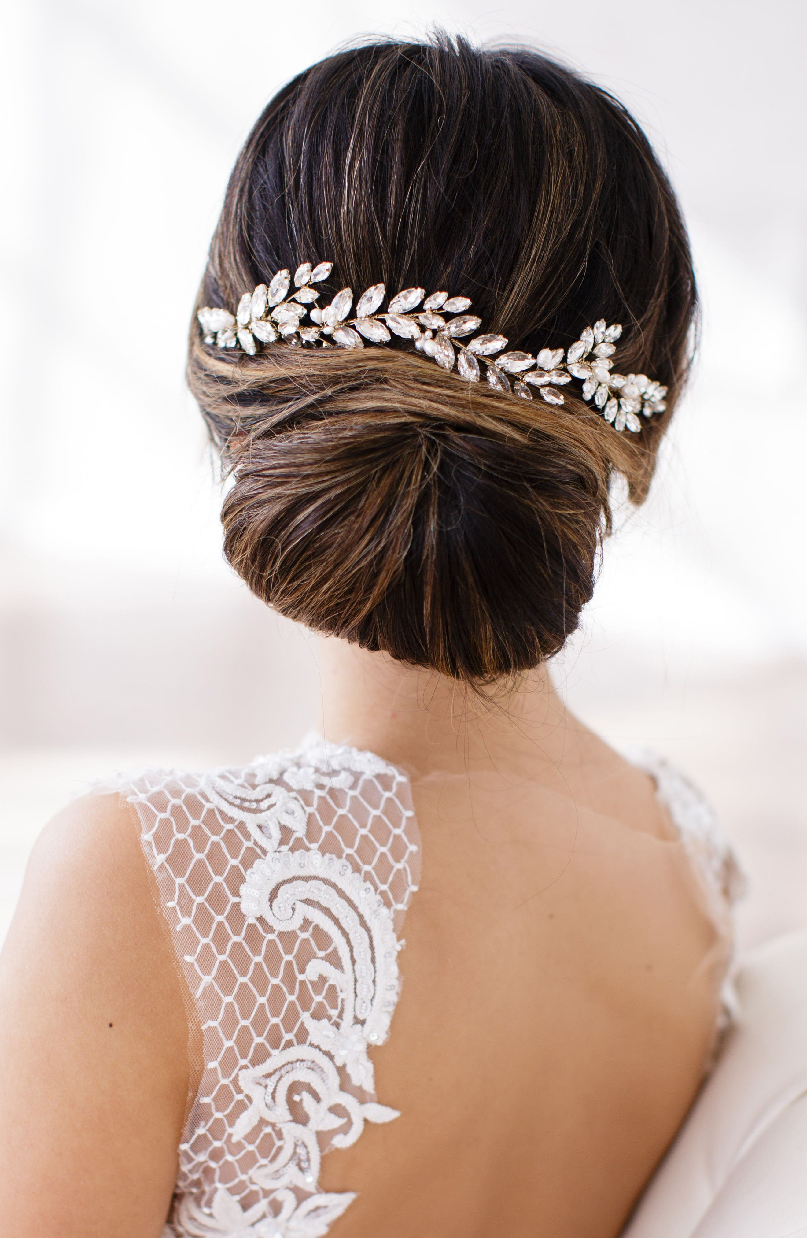 Alternate Image 1 Selected - Brides & Hairpins Abrielle Crystal & Pearl Headpiece
