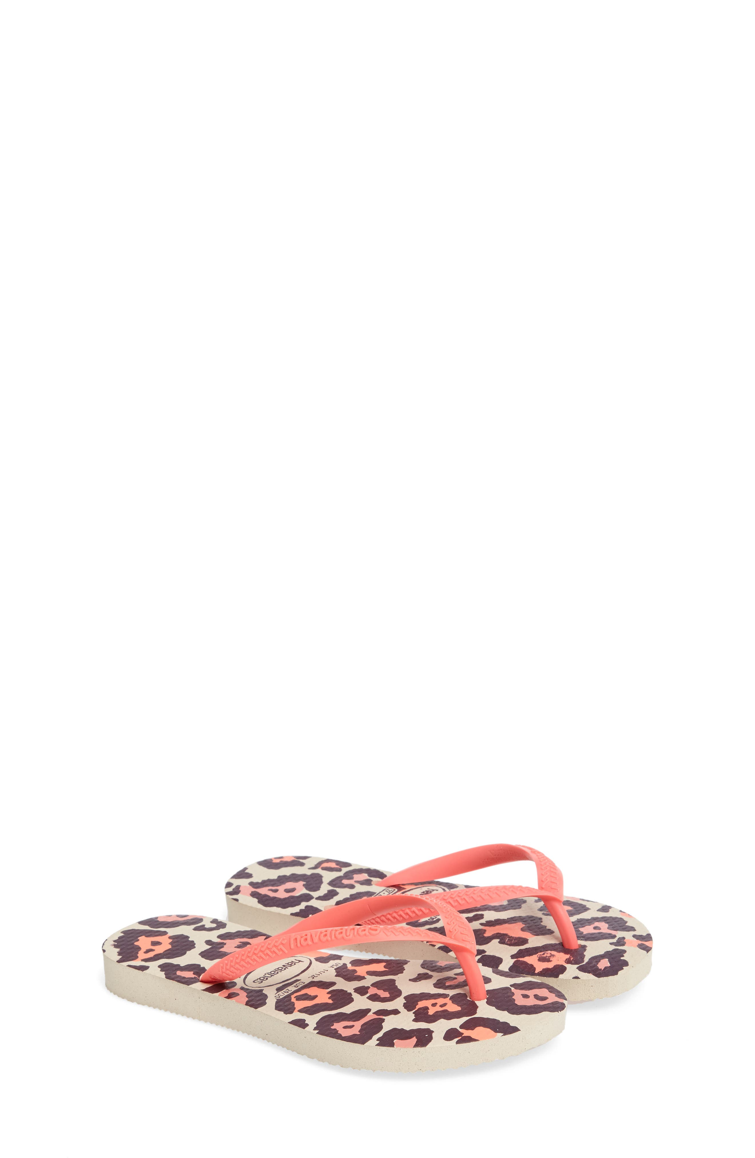 Havaianas 'Slim' Animal Print Flip Flop (Toddler & Little Kid)